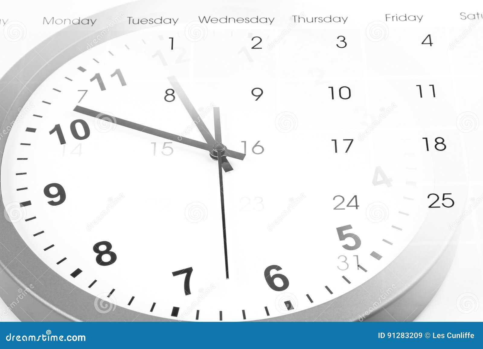 Klocka och kalender