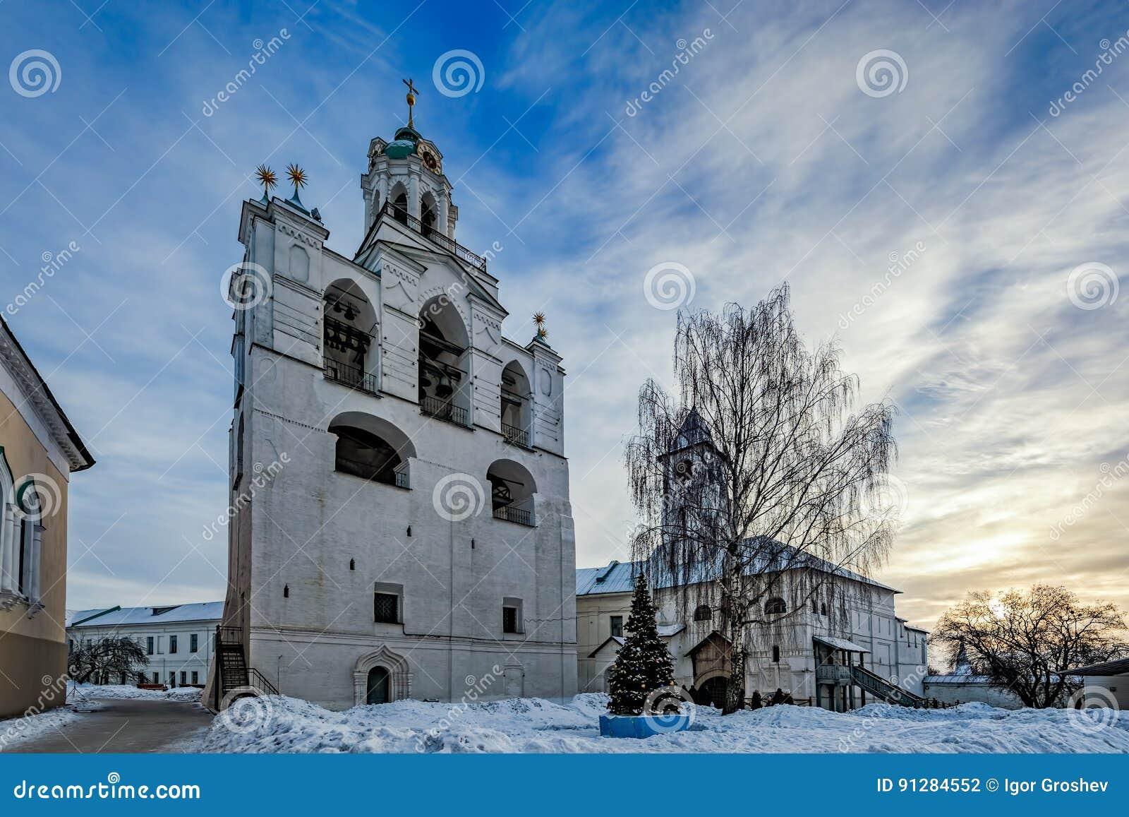 Klocka torn av den Spaso-Preobrazhensky kloster, Yaroslavl