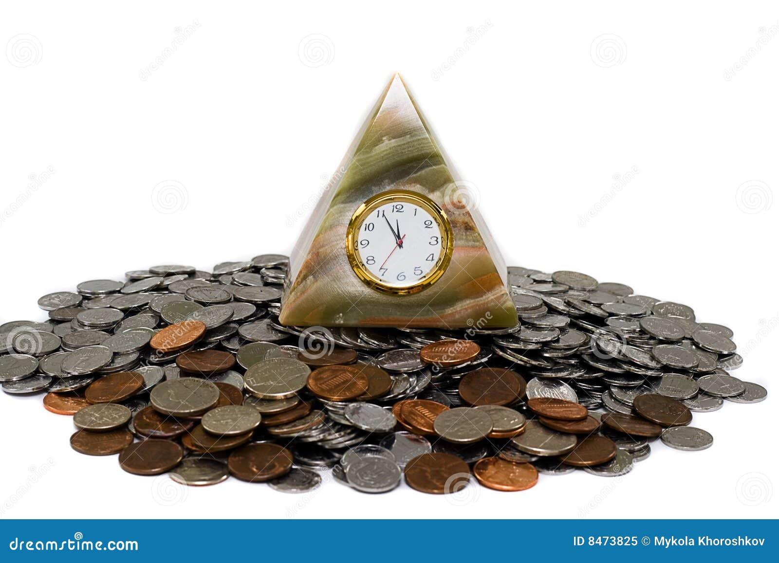 Klockan coins pyramiden