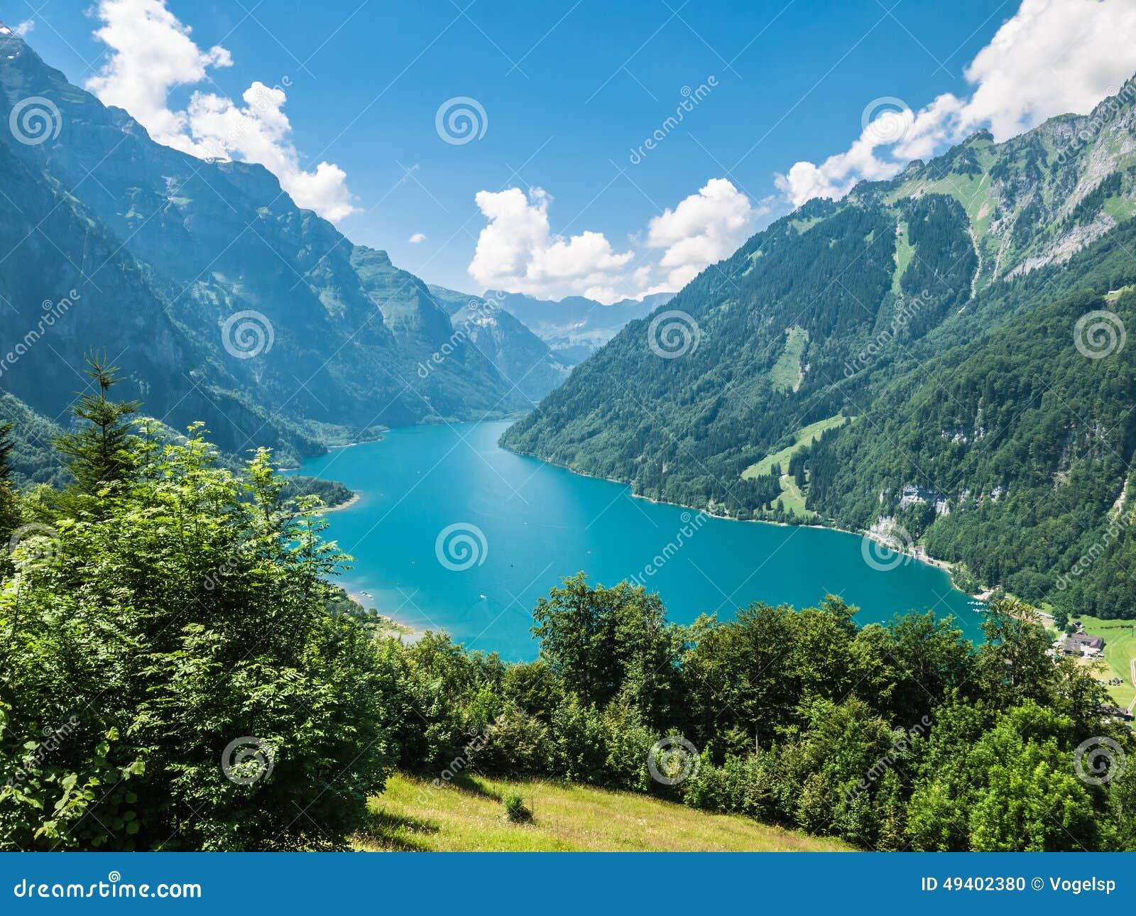 Download Kloentaler See im Sommer stockfoto. Bild von wald, blau - 49402380