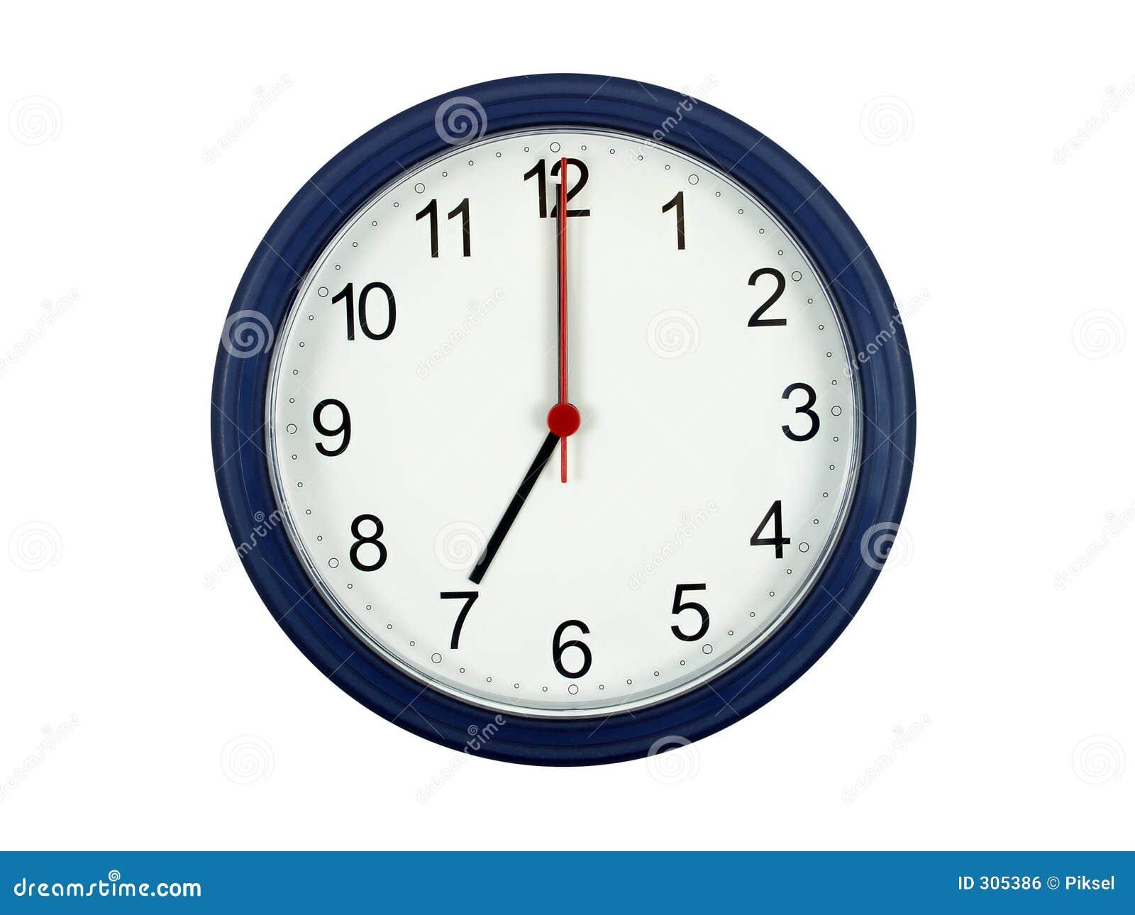 Klok die 7 uur toont stock foto afbeelding bestaande uit work 305386 - Klok cm ...