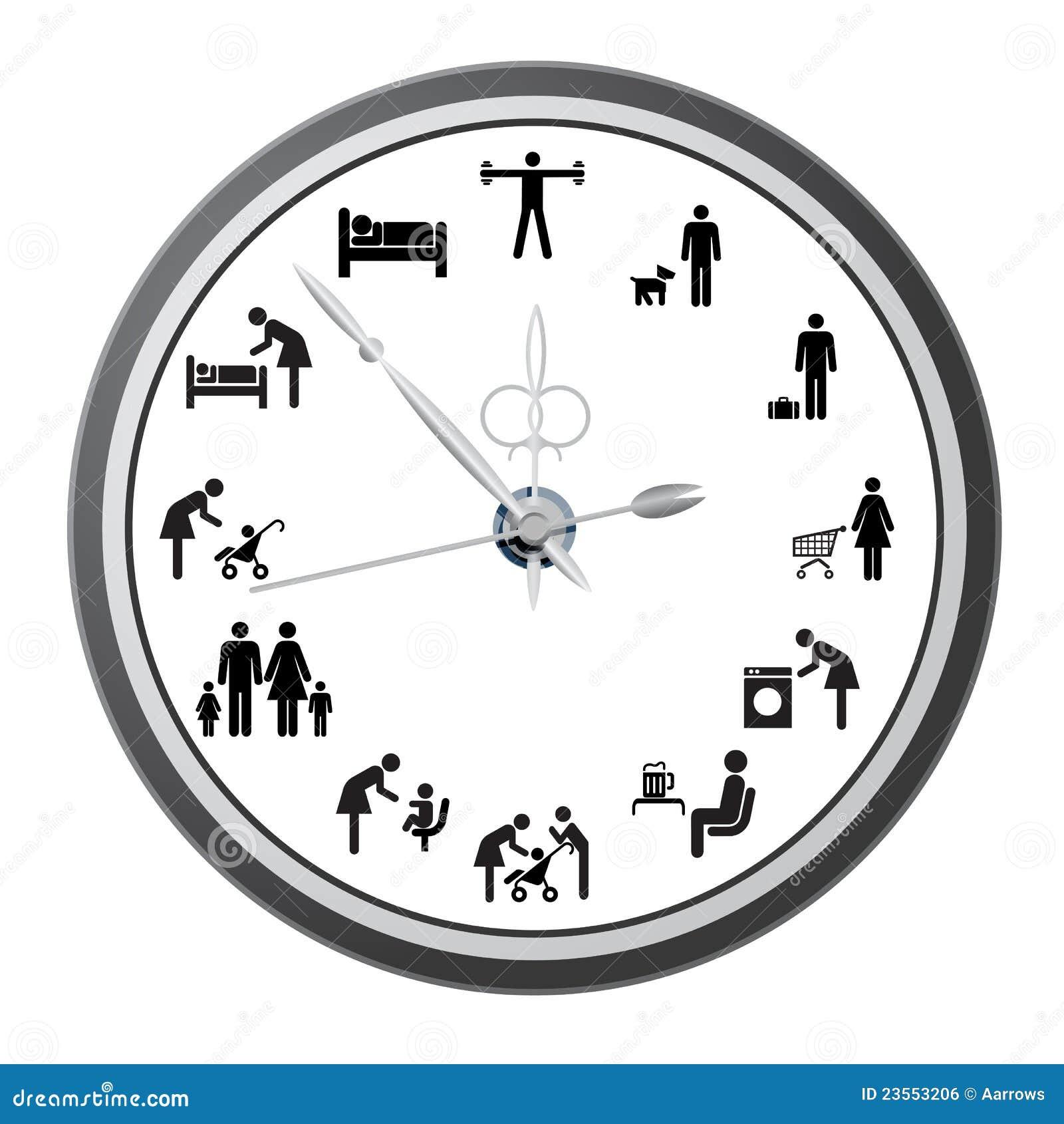 Klok van pictogrammen van mensen royalty vrije stock afbeelding beeld 23553206 - Klok cm ...