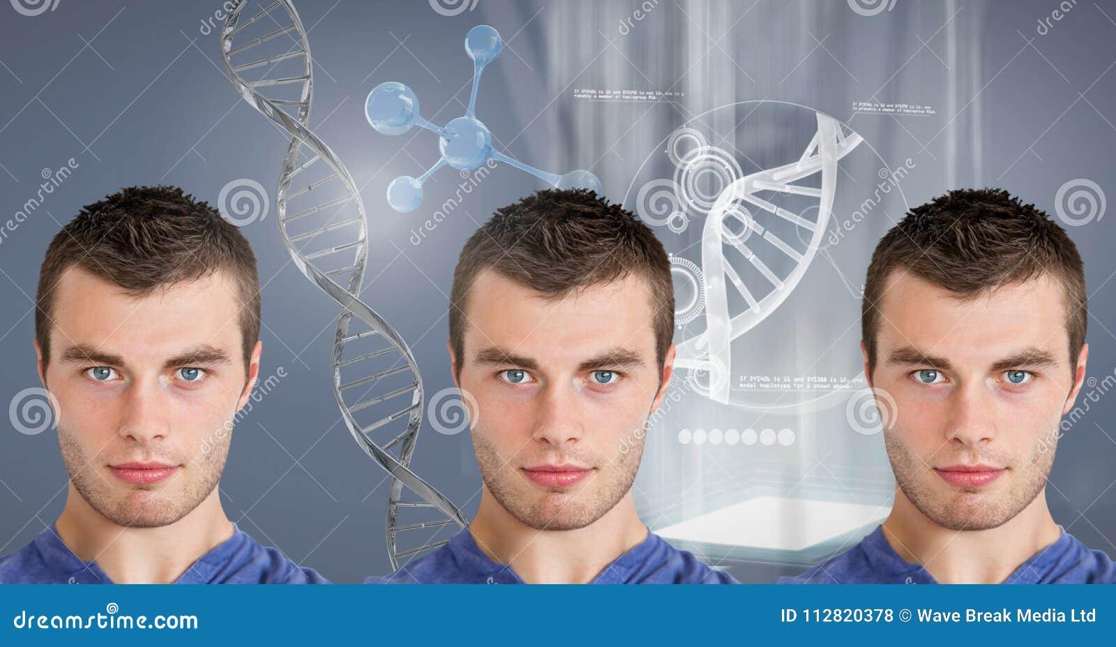Kloonmensen met genetische DNA