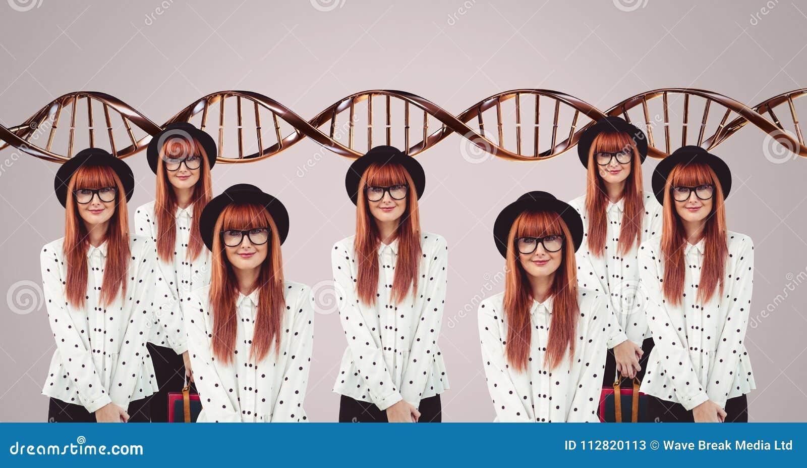 Kloonvrouwen met genetische DNA