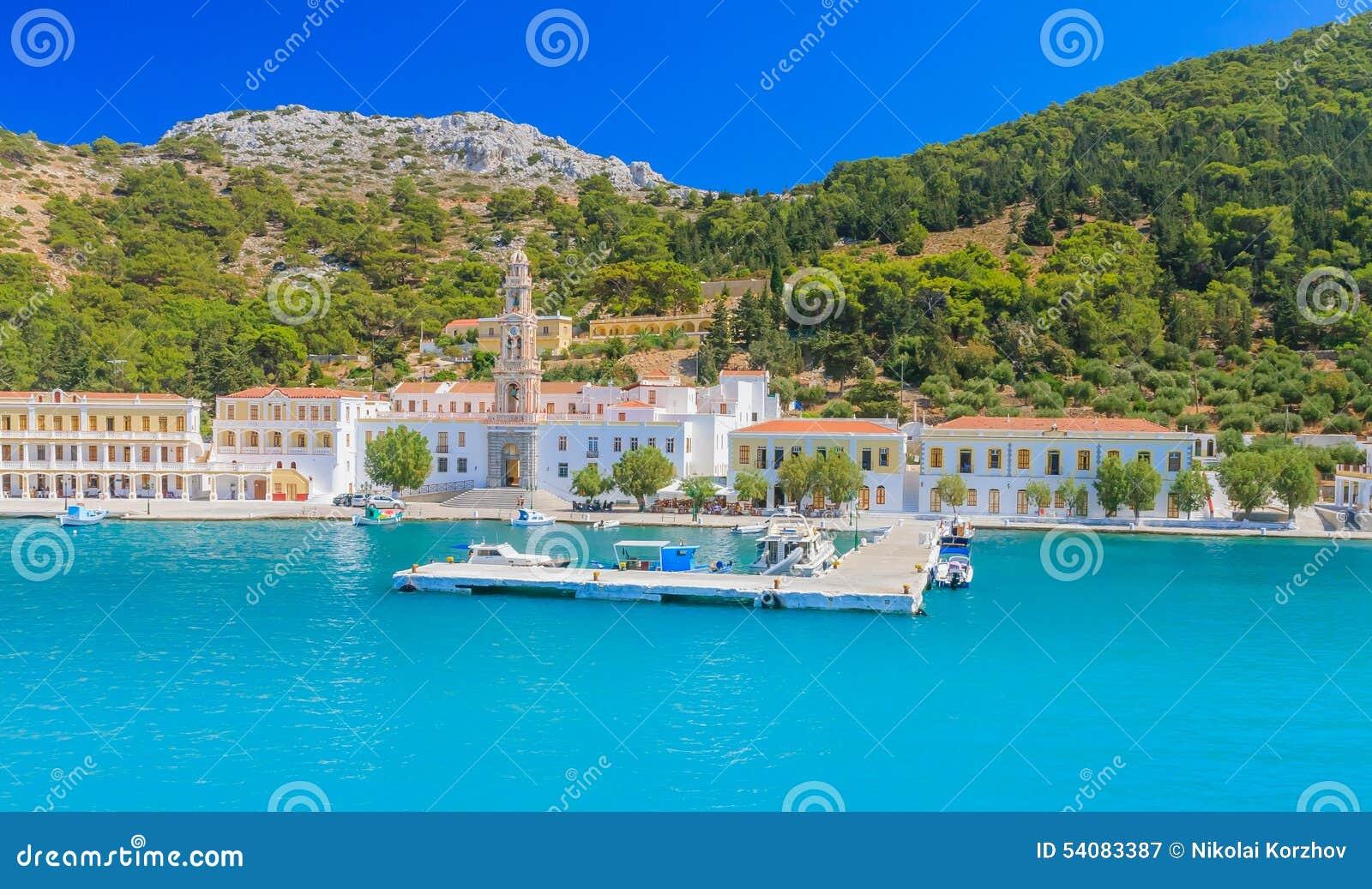 Klooster Panormitis Het eiland van Symi