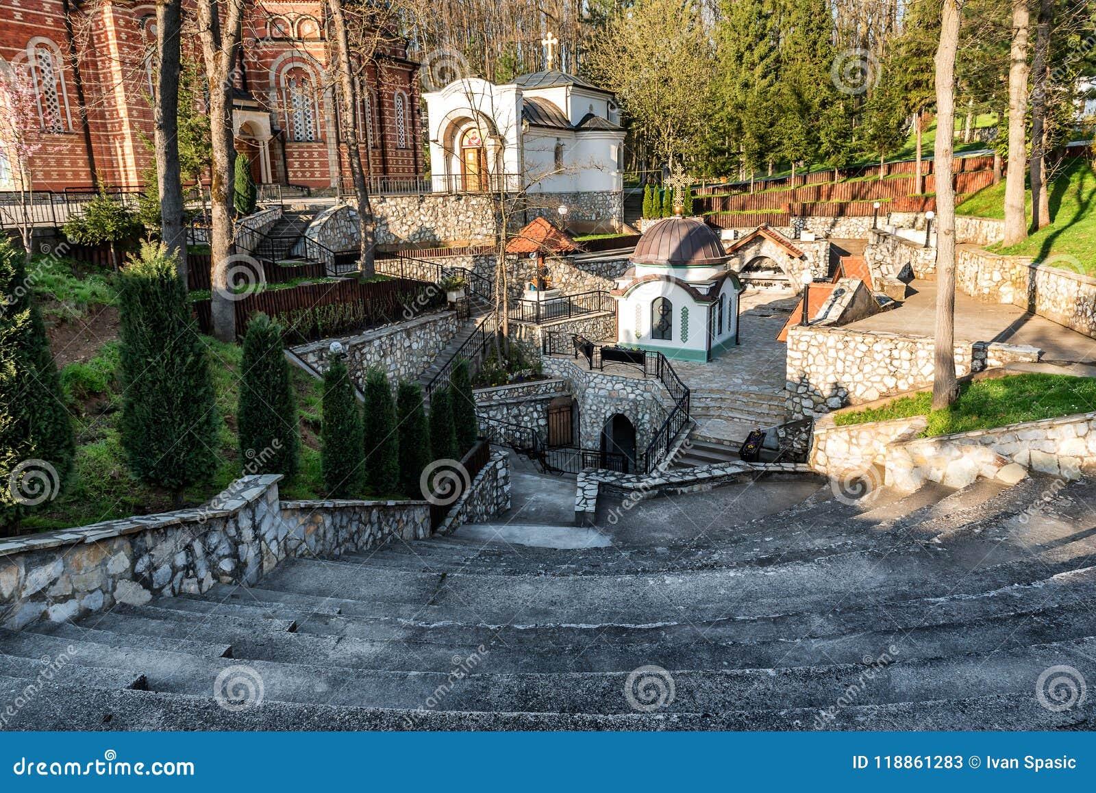 Kloster Djunis med kyrkan av modern av omslaget för gud` s, Serbien