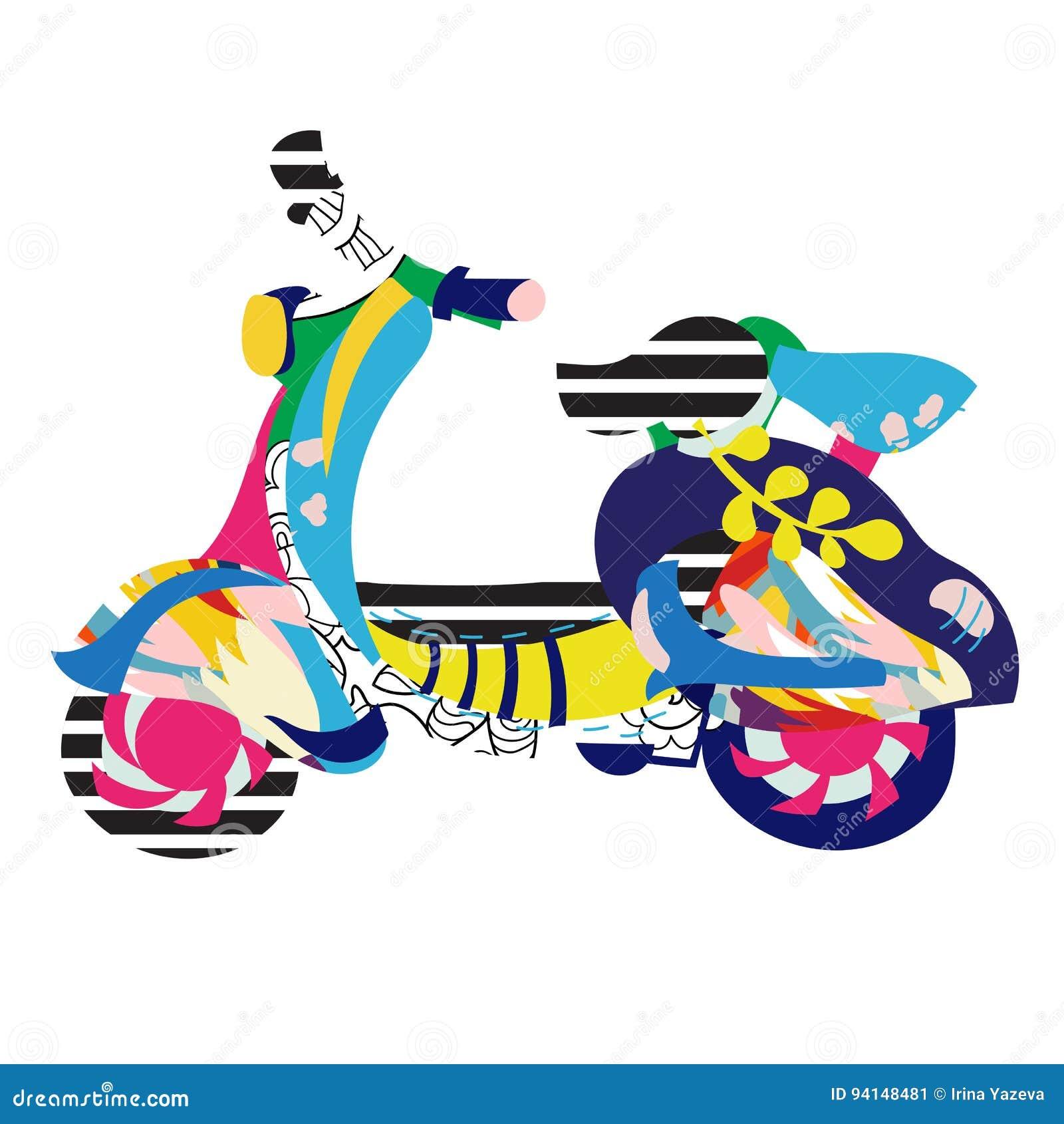 Klotter för motorisk sparkcykel