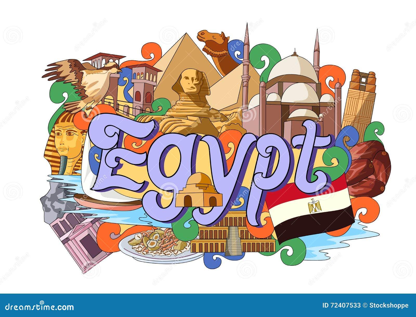 Klottervisningarkitektur och kultur av Egypten