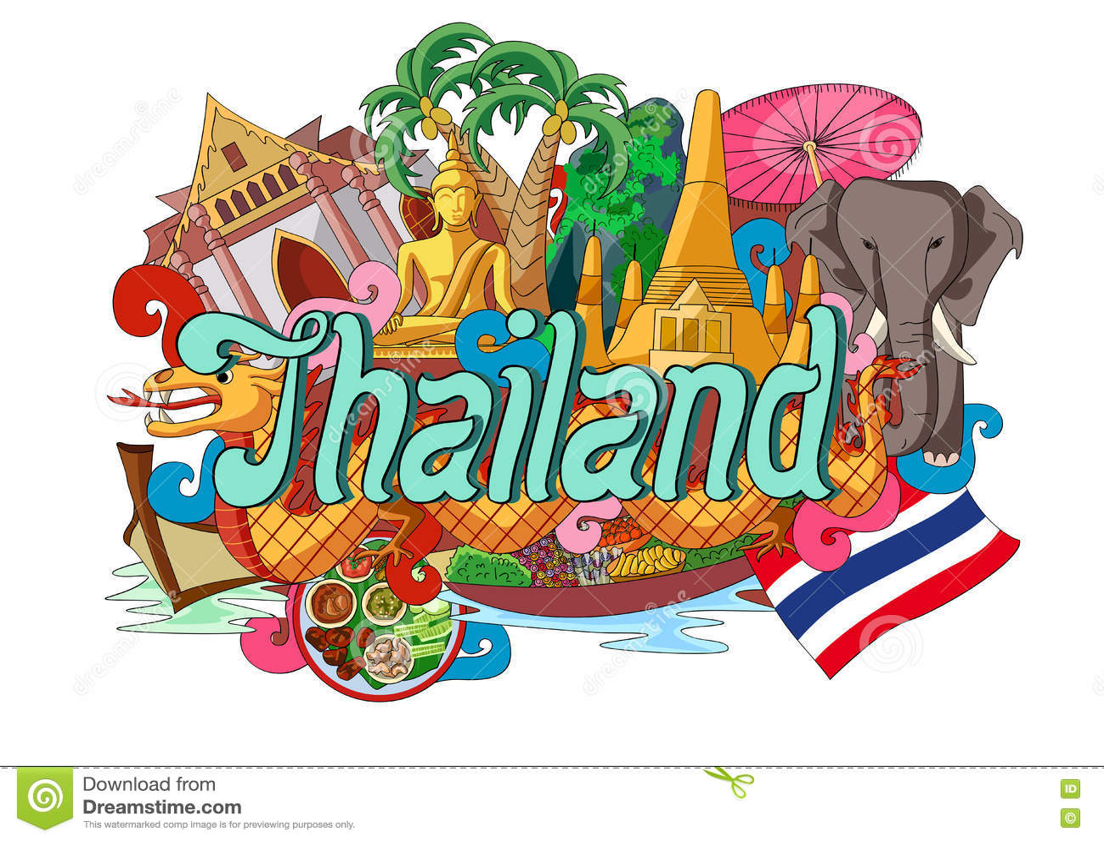 Klottervisningarkitektur och kultur av Thailand