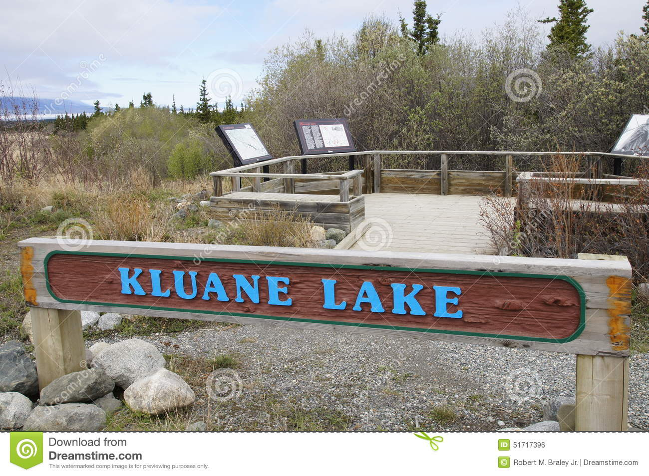 Kluane Lake Alaska Highway Rest Stop