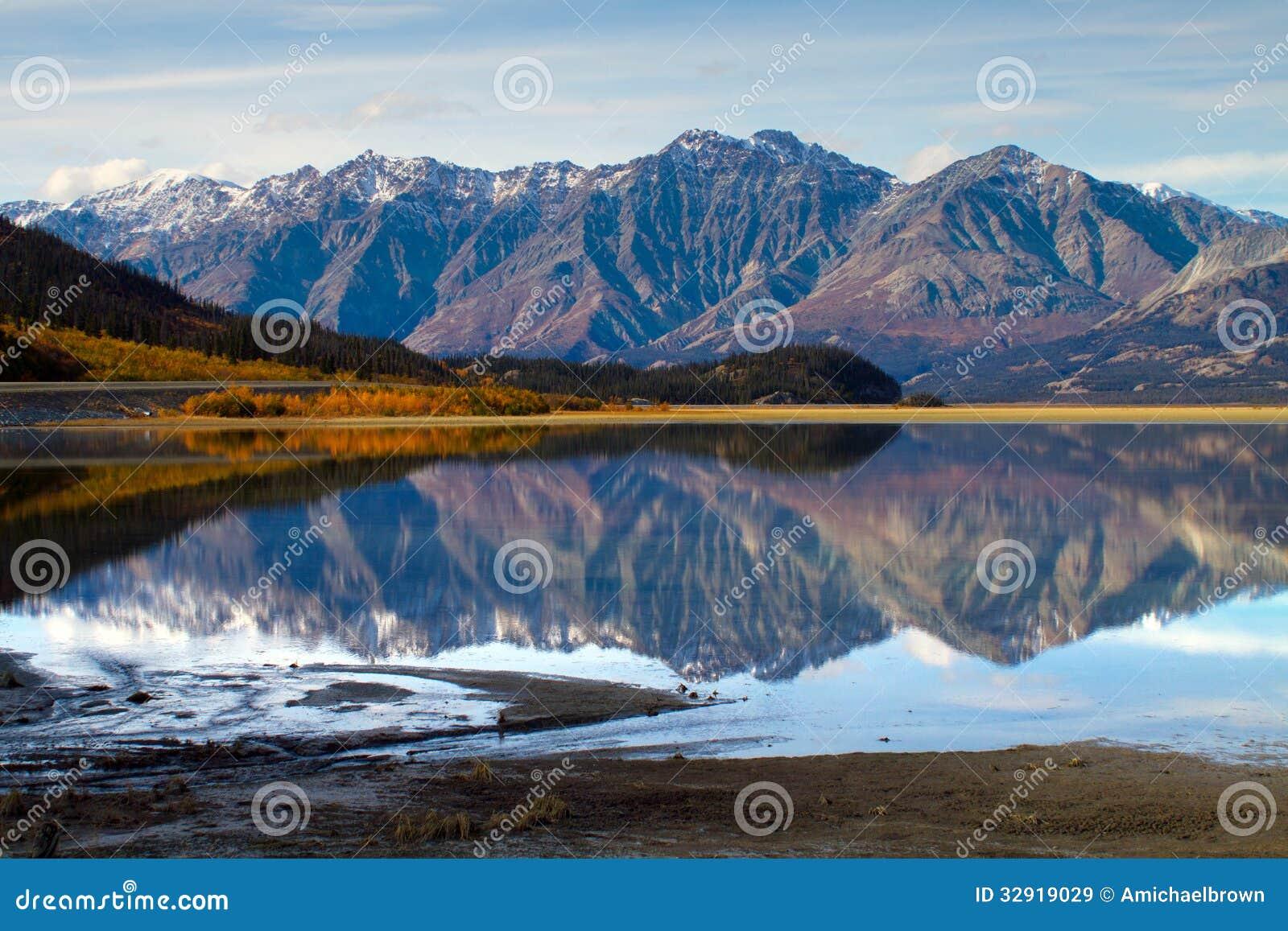 Download Kluane Lake, Yukon Territories Stock Image - Image of alaska, colour: 32919029