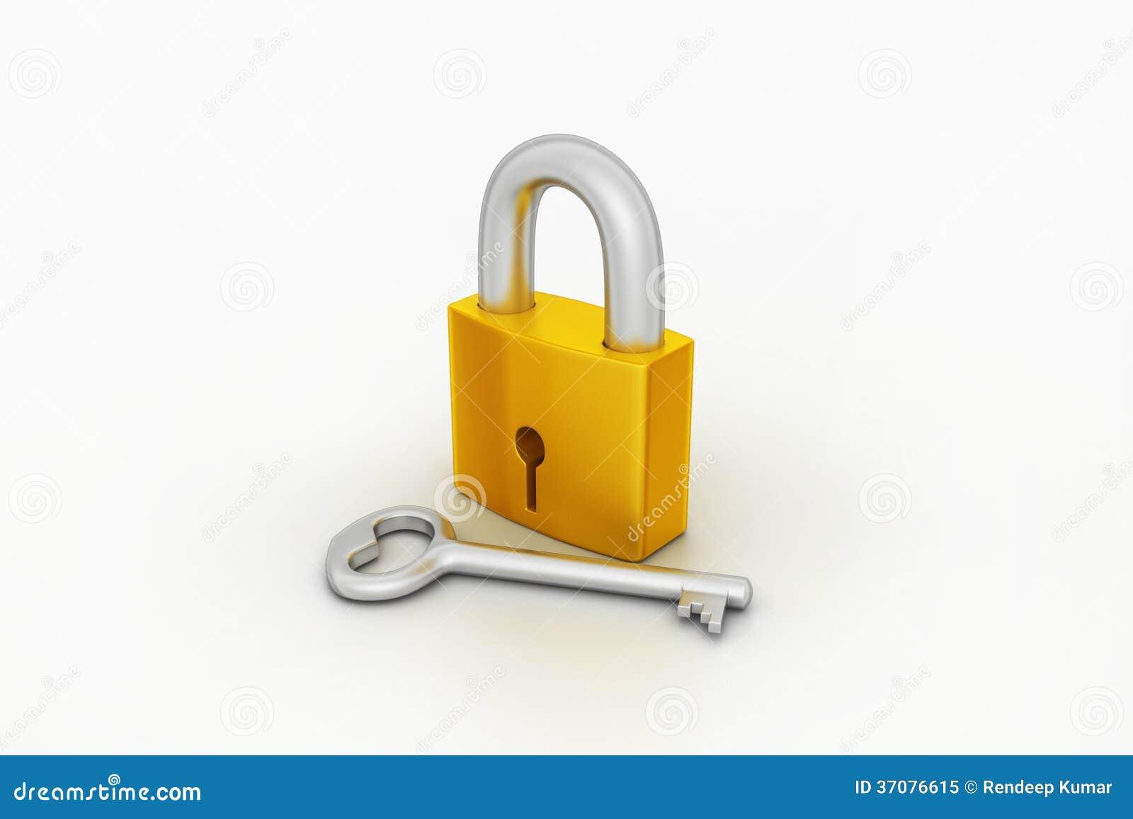 Download Klucz i kłódka ilustracji. Ilustracja złożonej z foremność - 37076615