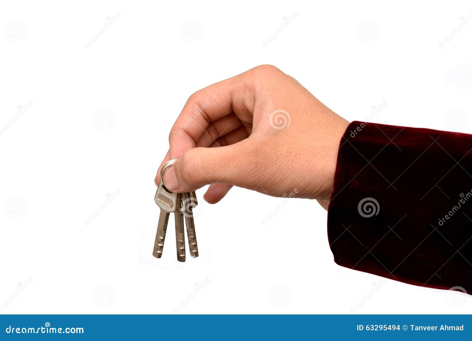 Klucze w ręki hipoteki domowego czynszu pojęciu