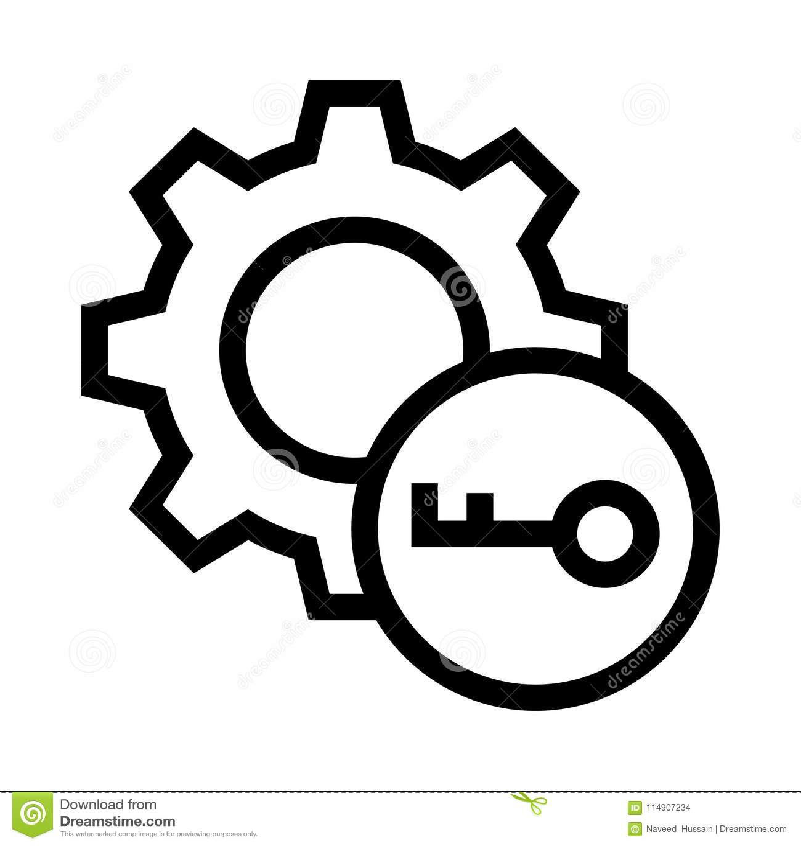 Kluczowa położenie wektoru linii ikona