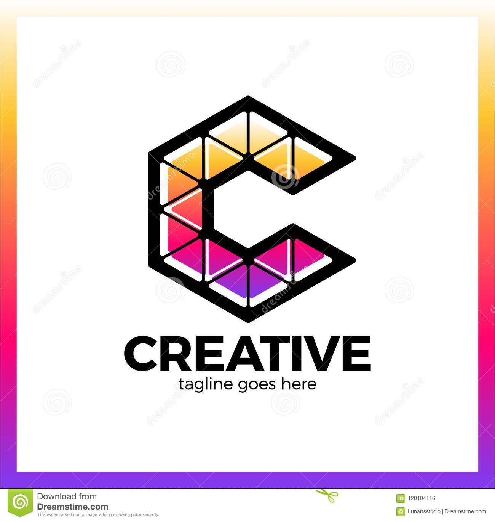 Klug, kreativ, Dreieck, bunt, Buchstabe C Smart und Idee L