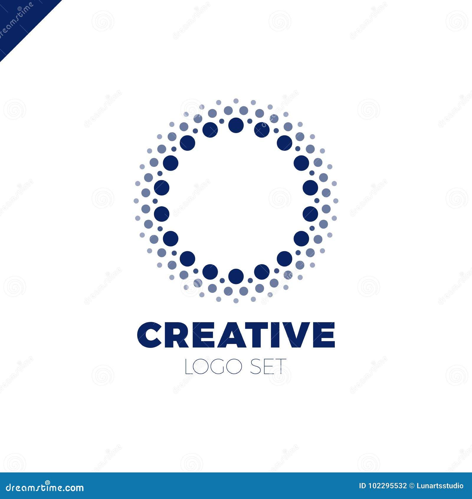Klug und kreativ, Punkte oder Logo des Punktbuchstaben O Smart und Ideenfirmenzeichen