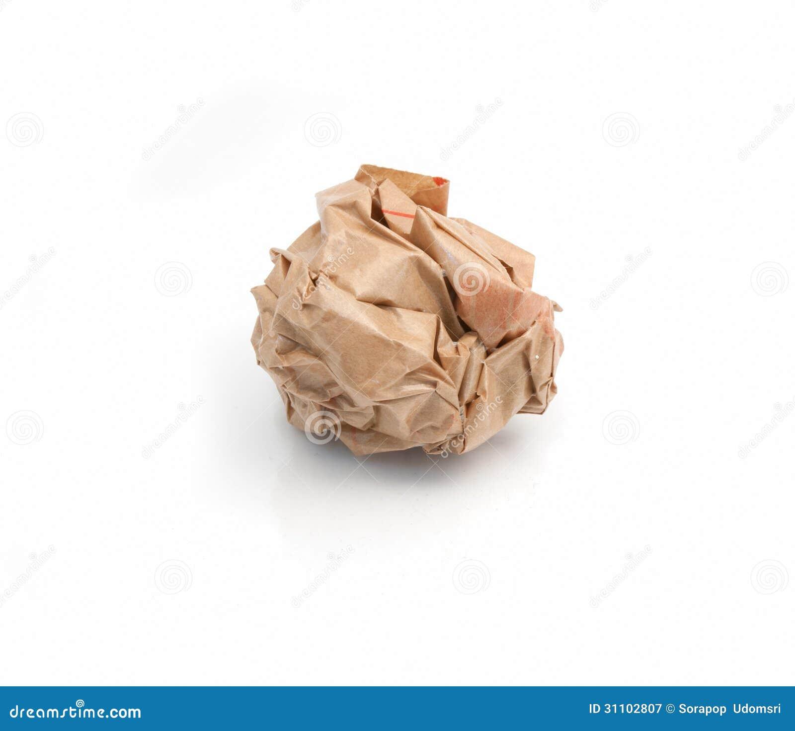 Klumpen zerknittertes Papier
