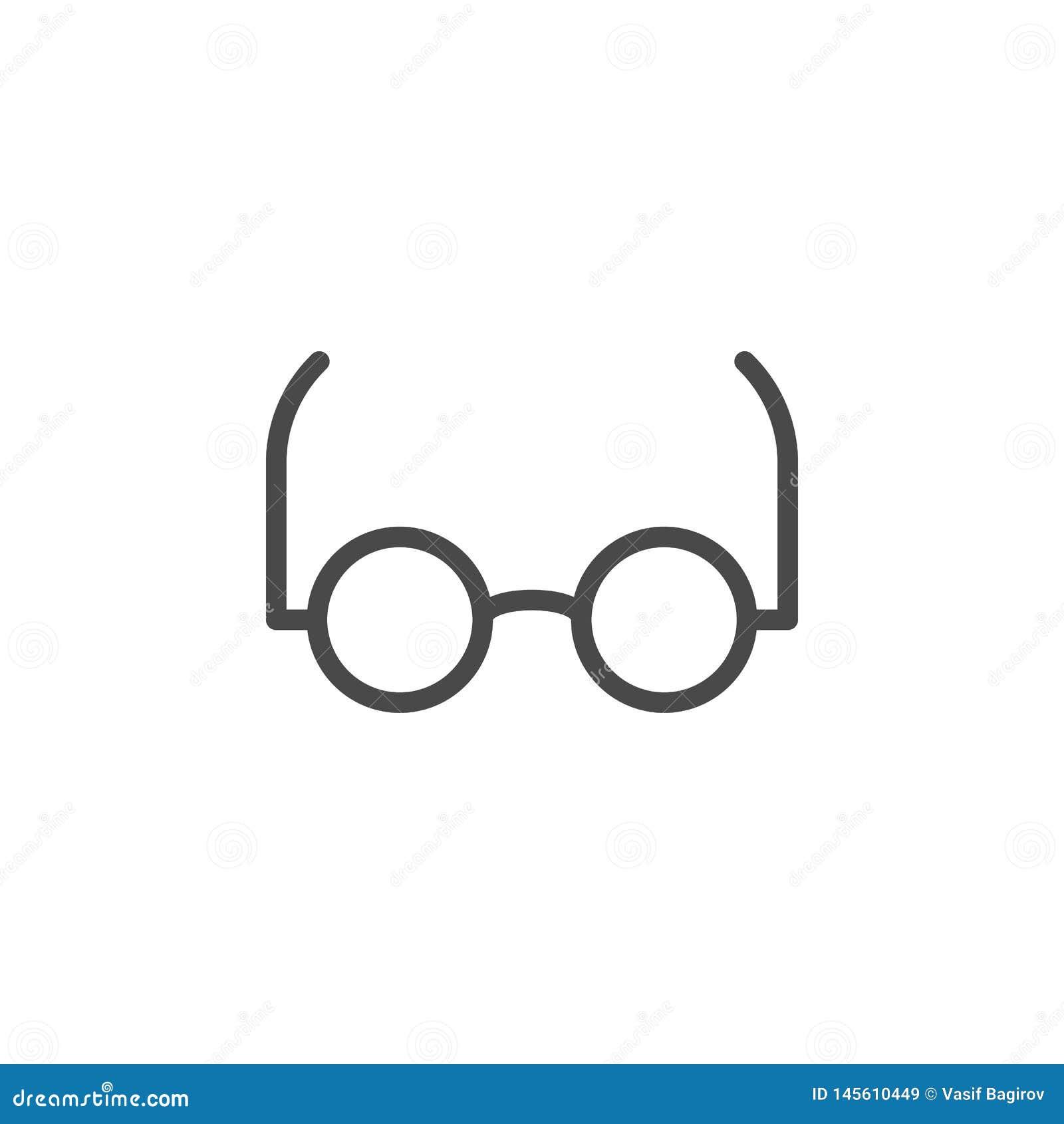 Klyftigt exponeringsglas, läst vektorsymbol F?r ?versiktsvektor f?r multimedia minimalist symbol