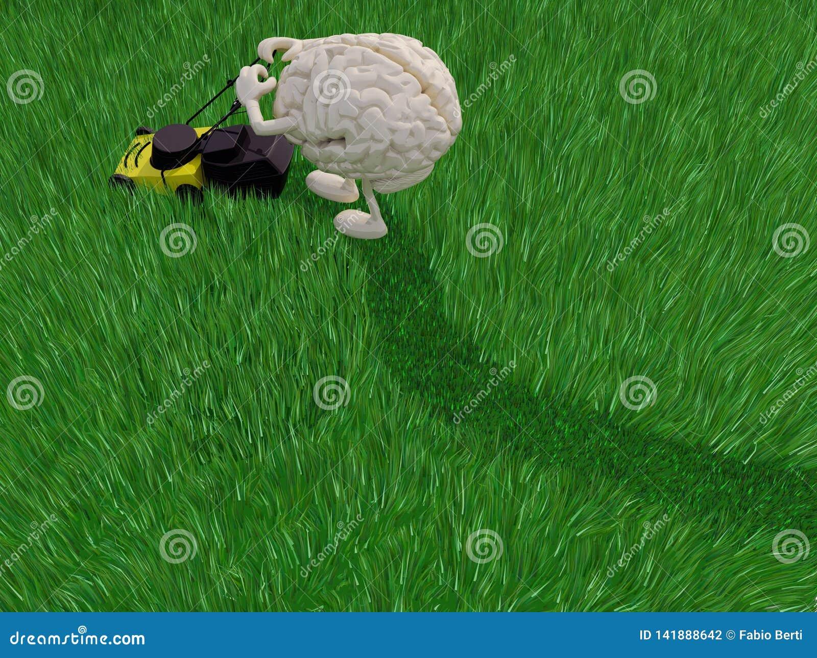 Klyftigt fält för tecknad filmklippgräs