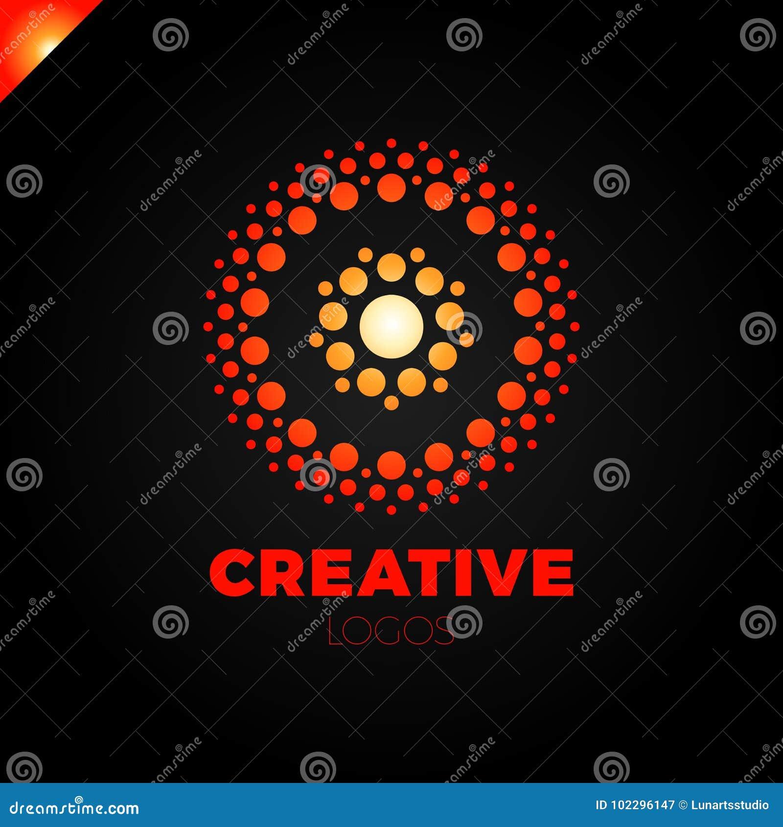 Klyftigt och idérikt, prickar eller logo för punktbokstavsnolla Smart och idélogotyp