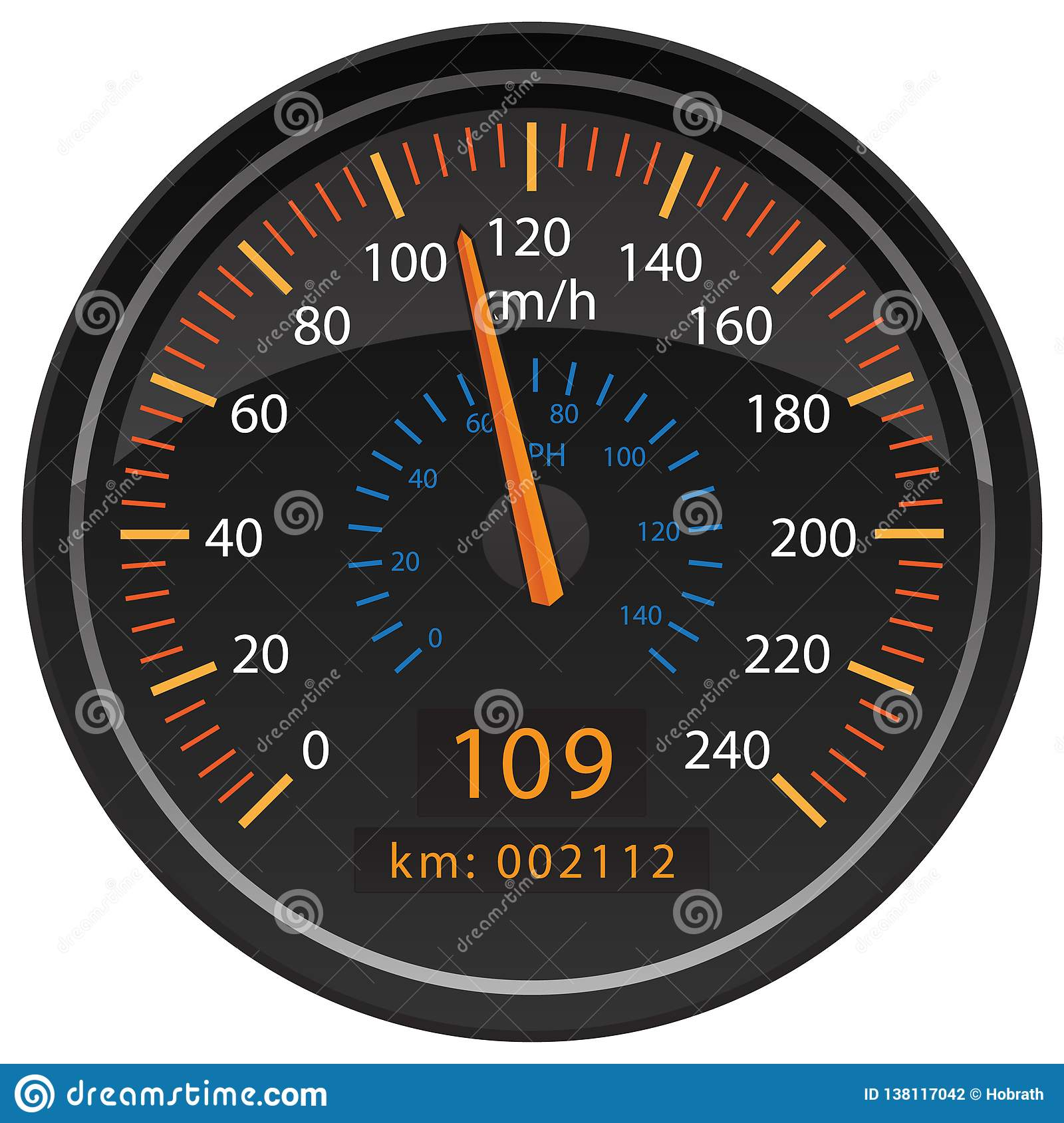 Kilometers To Mph >> Kmh Kilometers Per Hour Speedometer Odometer Automotive