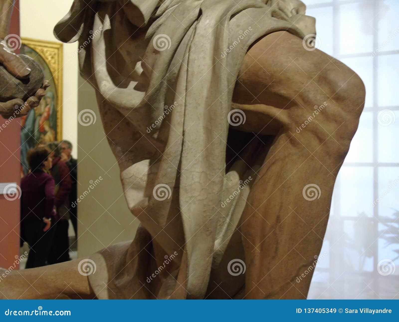 Knä av St Jerome av Pietro Torrigiano