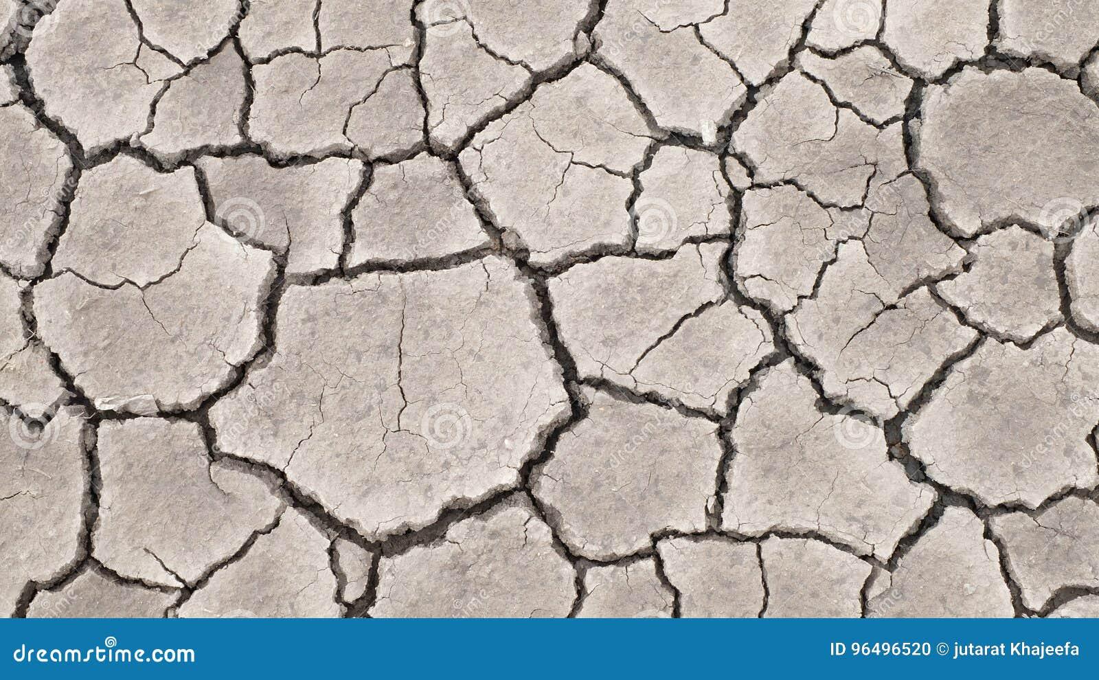 Knäckt textur för jord torka