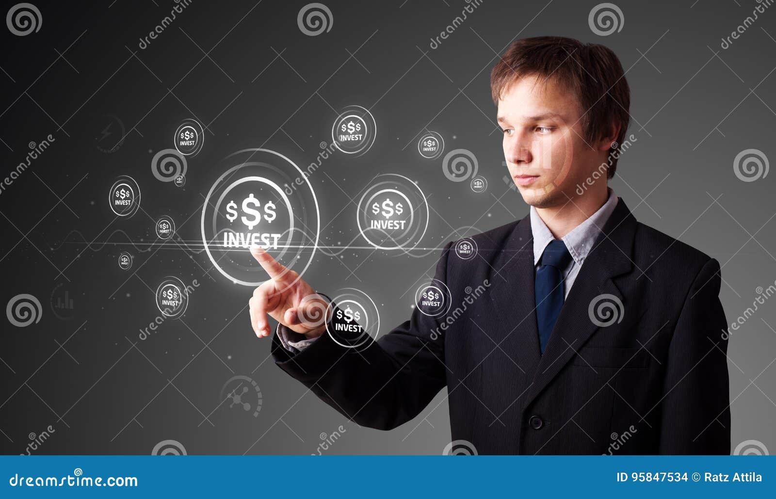 Knäppas tränga modern affärstyp för affärsmannen av