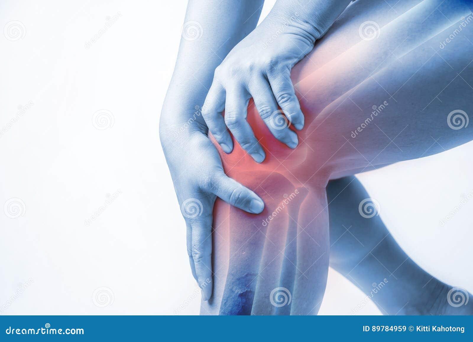 Knäskada hos människor knäet smärtar, folkläkarundersökningen för gemensam plågor, mono signalviktig på knäet