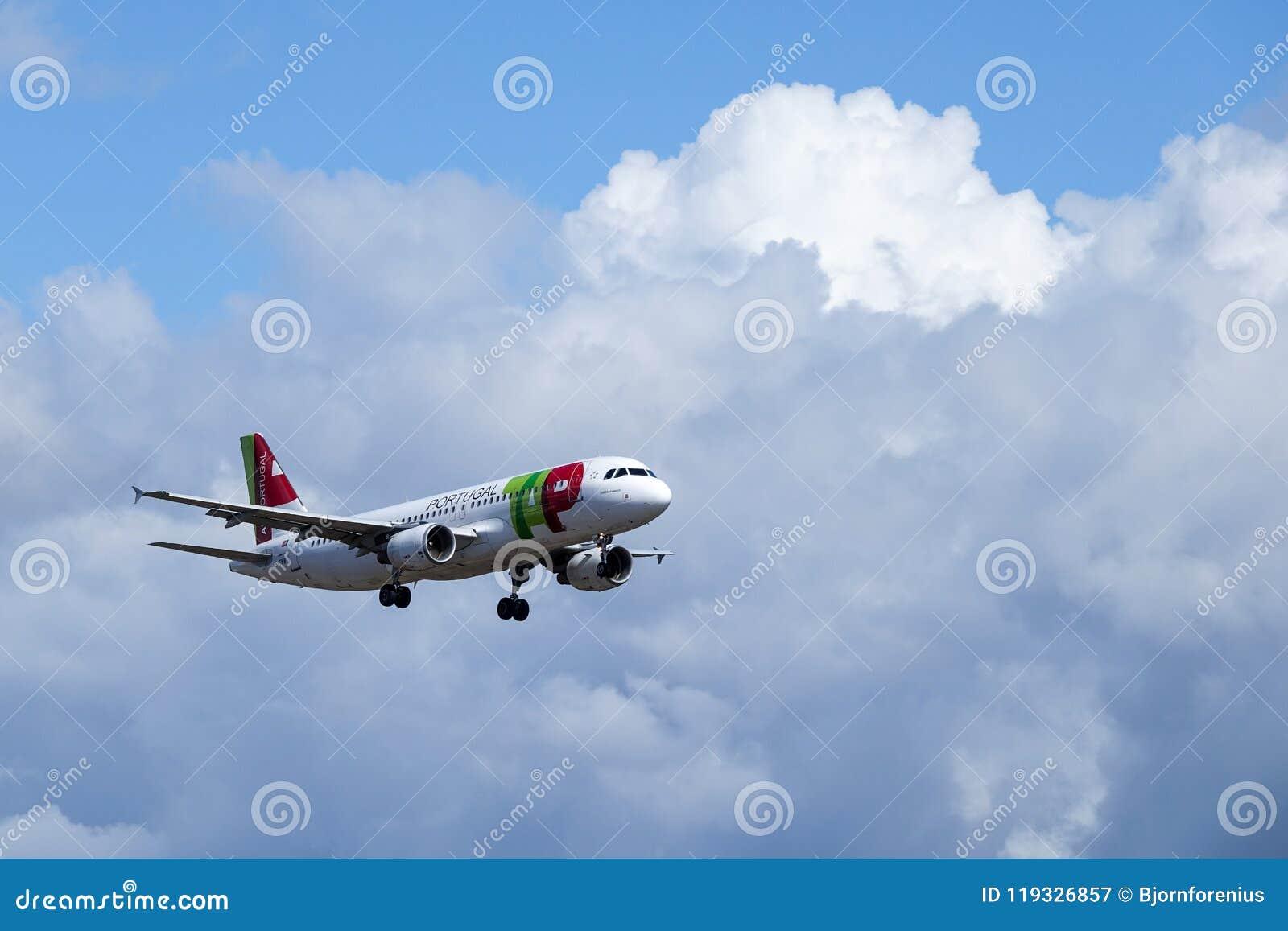 KNACKA LÄTT PÅ Air Portugal, flygbussen A320 - 251N