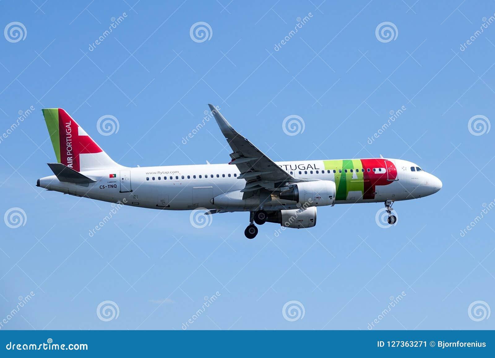 KNACKA LÄTT PÅ Air Portugal, strålflygplan för flygbuss A320/nivå