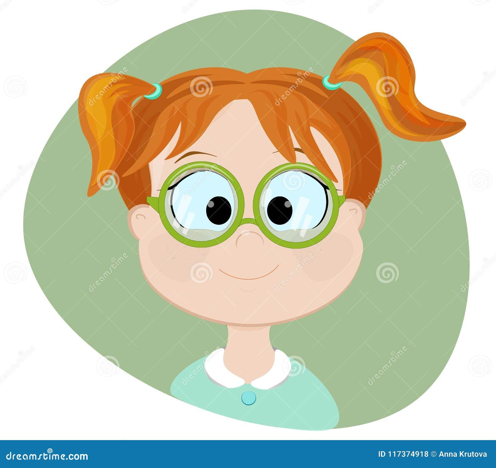 Knap meisje Vlakke illustratie