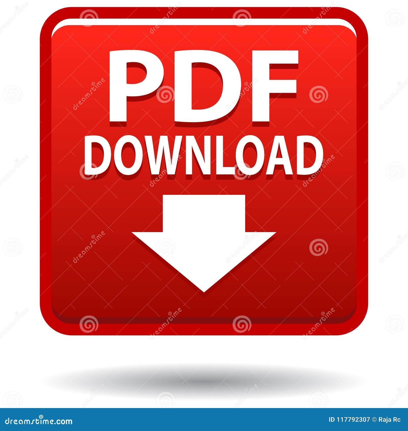 Knapp för röd fyrkant för Pdf-rengöringsduksymbol