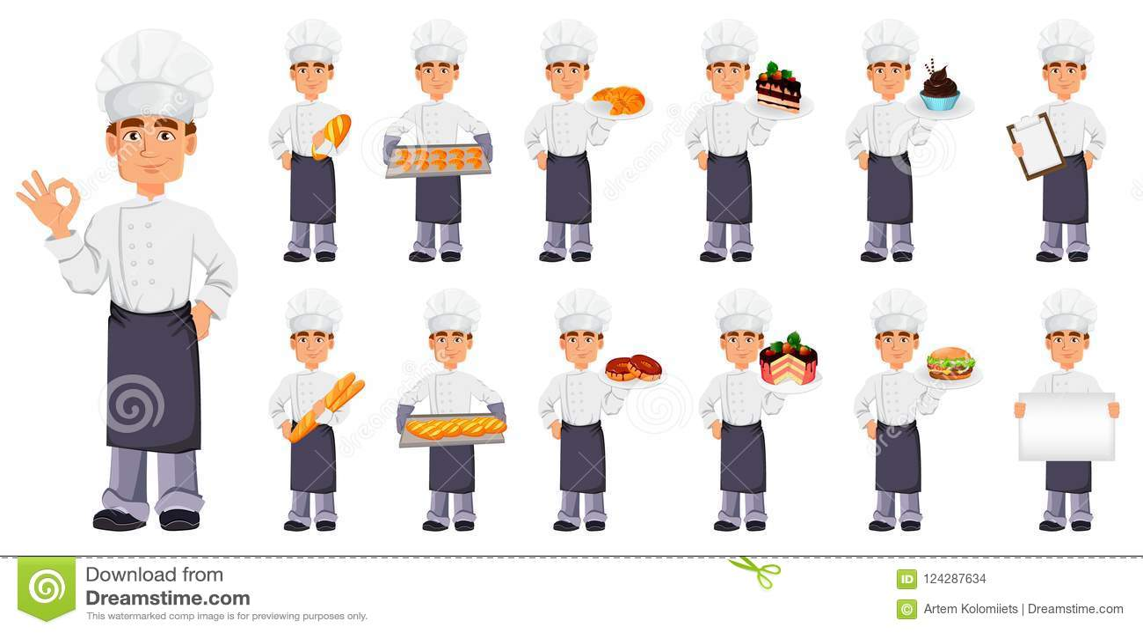 Knappe bakker in professionele eenvormig