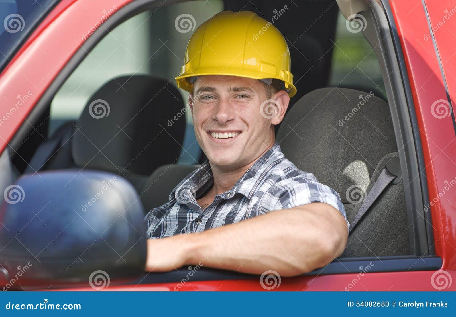 Knappe bouwvakker