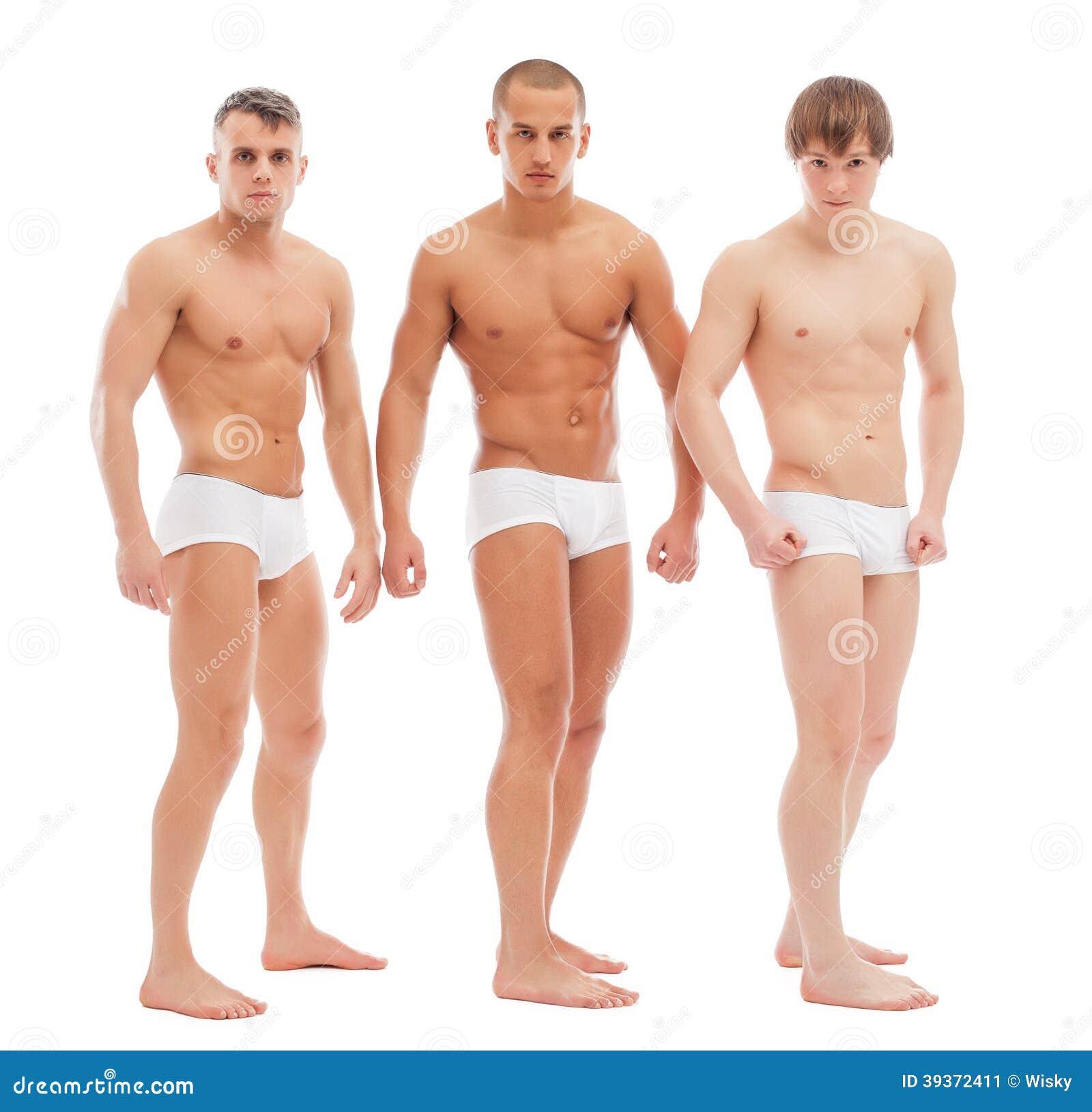 knappe naakte kerels die in witte memoranda stellen stock foto afbeelding 39372411. Black Bedroom Furniture Sets. Home Design Ideas