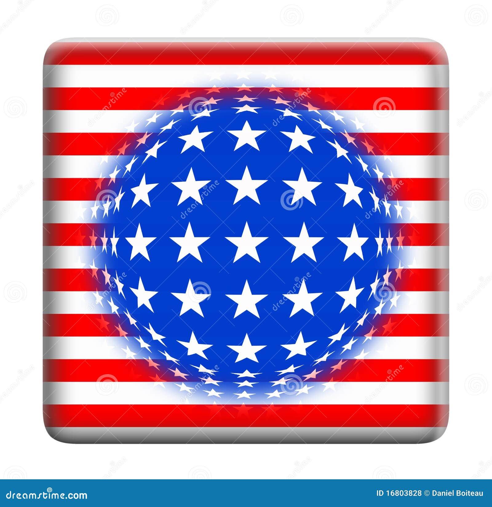 Knappfantasiflagga USA