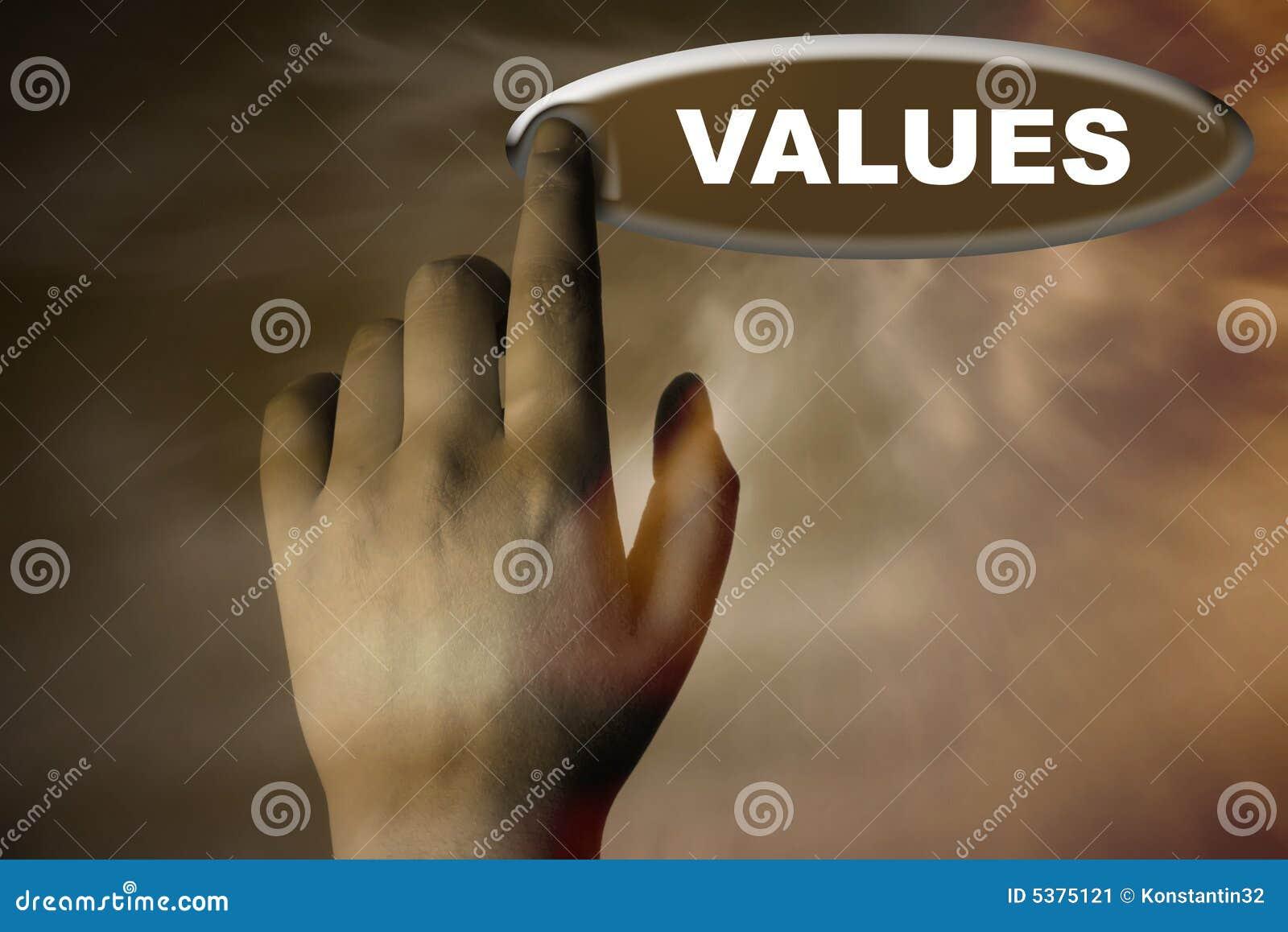 Knapphanden values ord