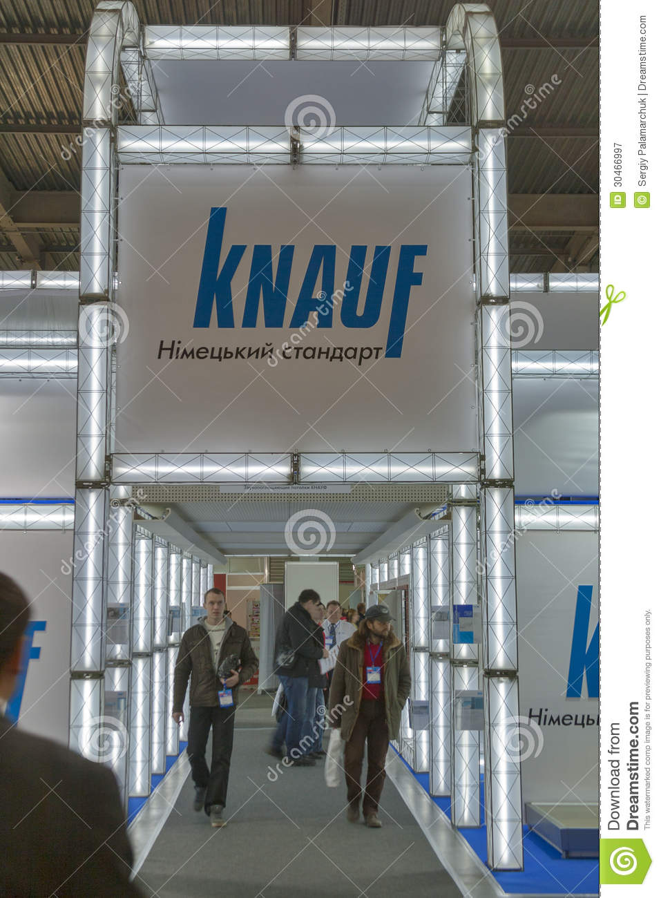knauf germany company booth editorial photography image