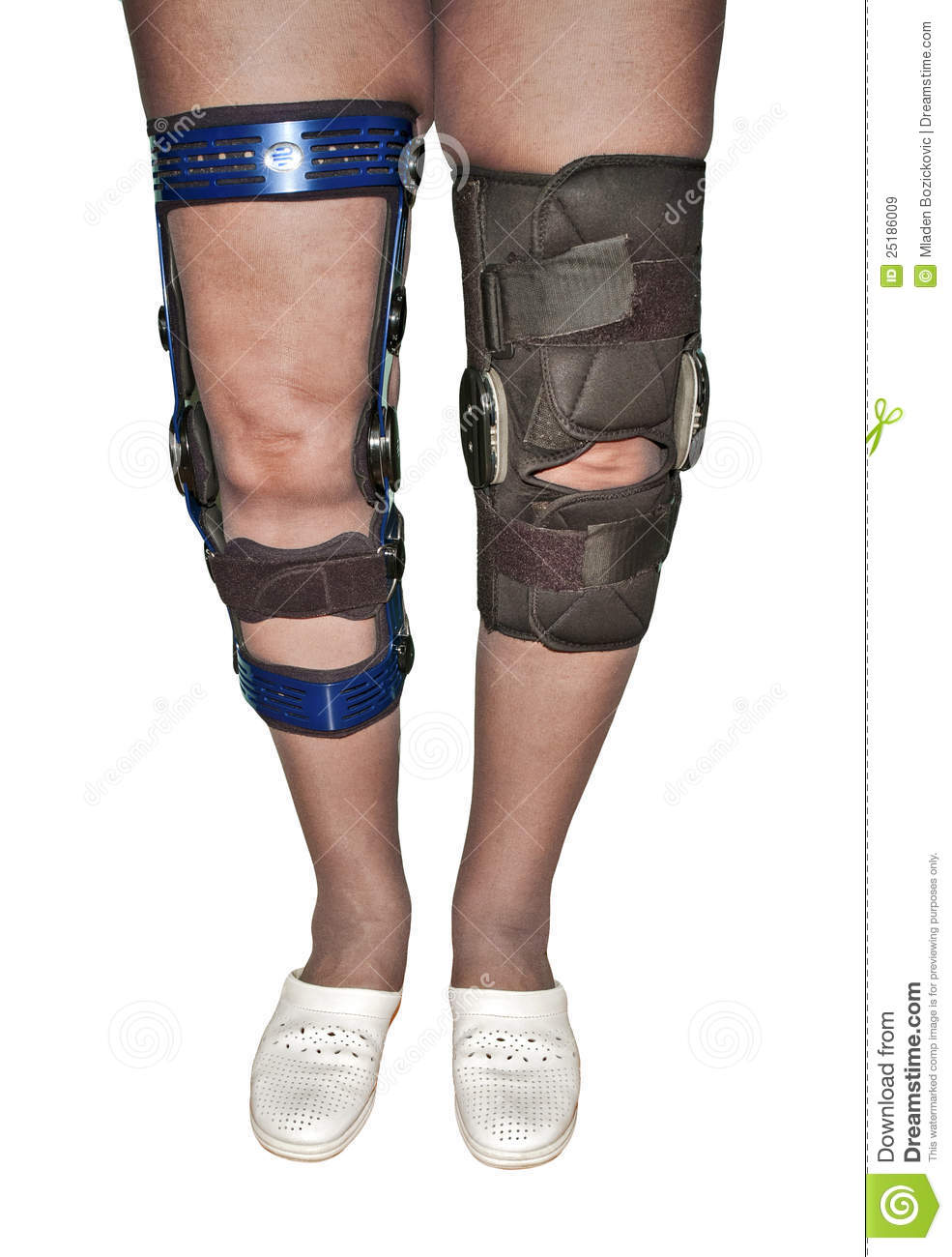 Knee Braces Royalty Free Stock Images - Image: 25186009