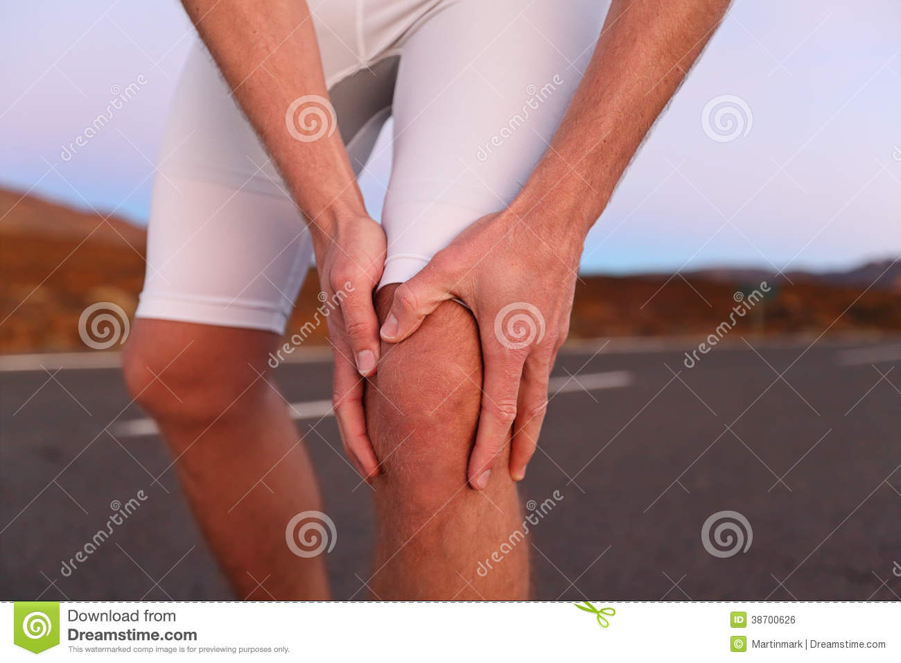 Knee pain running sport injury royalty free stock image for Exterior knee pain