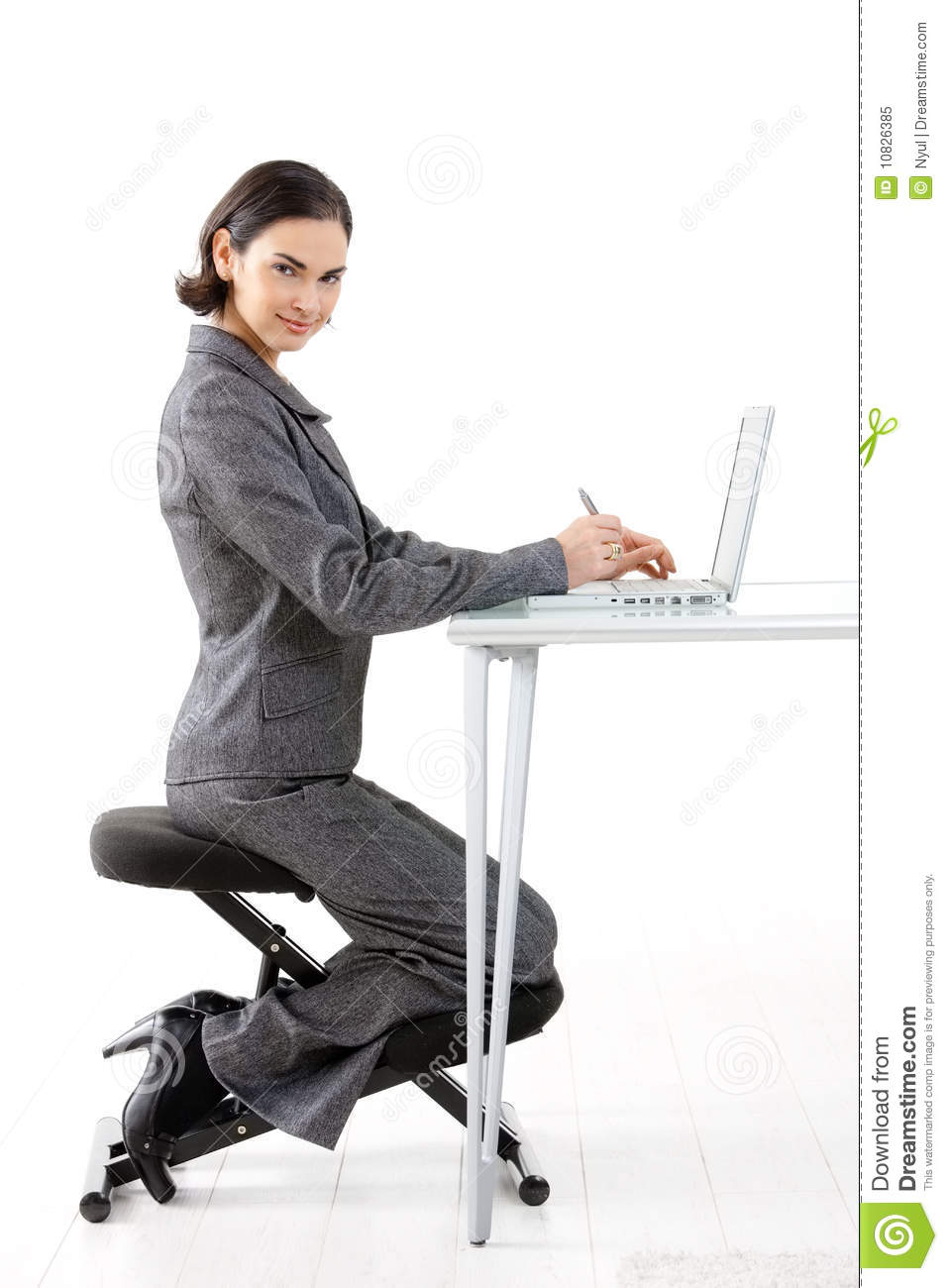 Kneeling Chair Stock Image Image Of Beautiful Expression