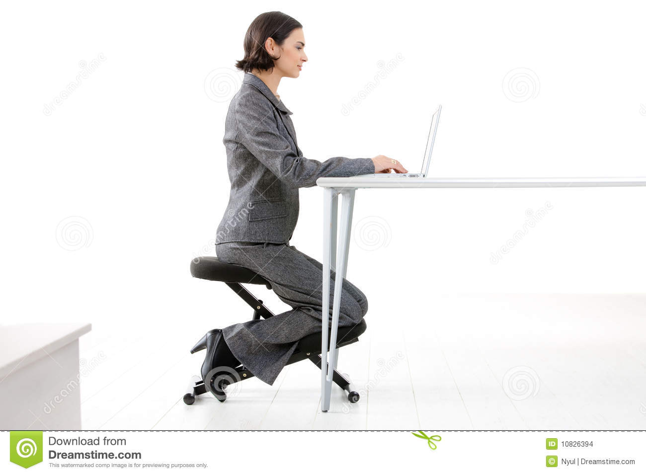 kneeling chair stock images
