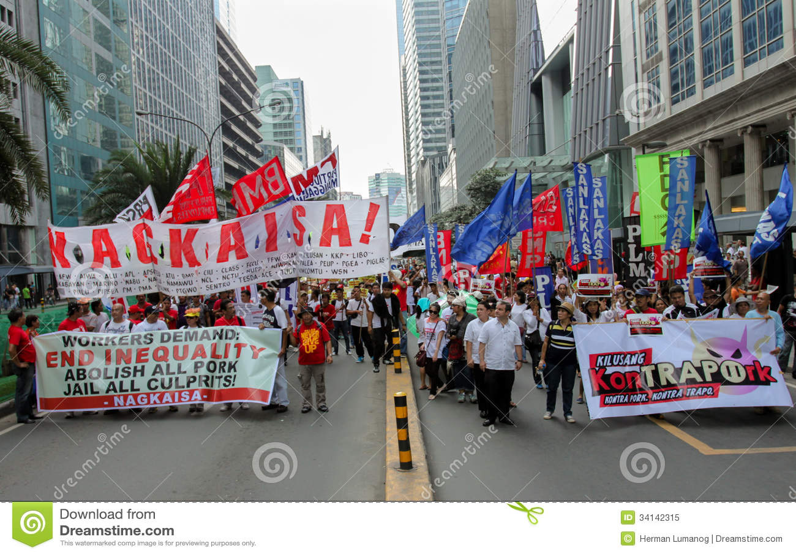 Kneget och korruption protesterar i Manila, Filippinerna