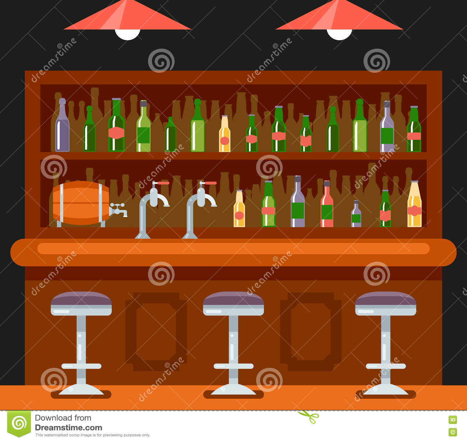 Kneipen-Bar-Restaurant-Café-Symbol-Alkohol-Bier-Haus-Innenikonen ...