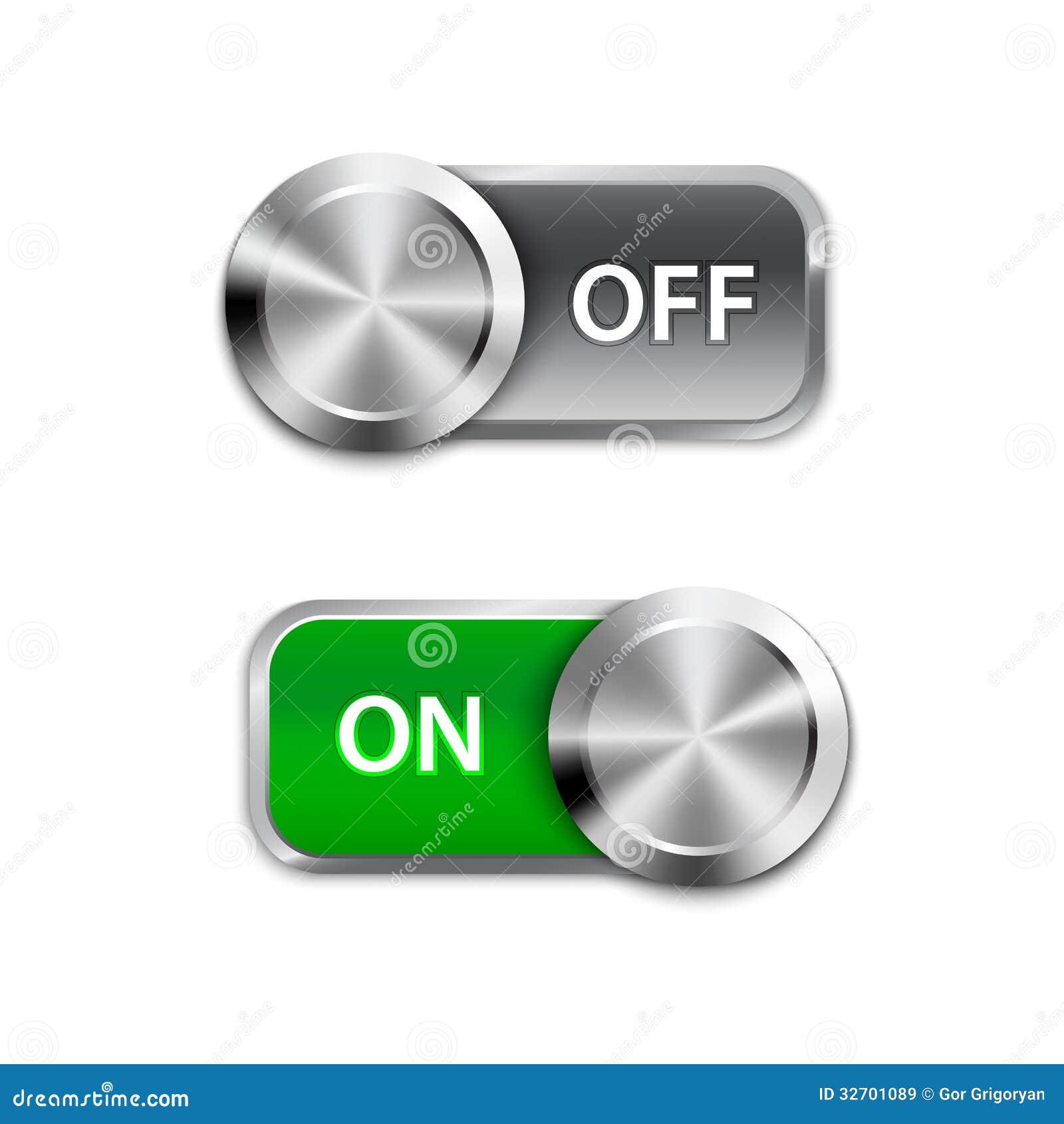 Knevelschakelaar aan en uit positie, On/Off schuiven