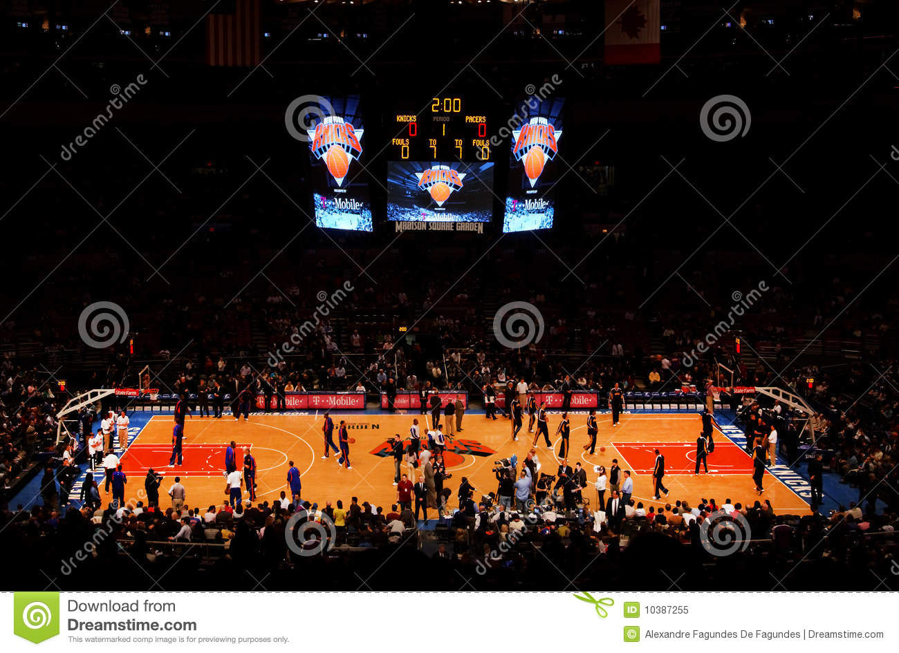 Knicks X Indiana Pacers Madison Square Garden Editorial Image Image 10387255