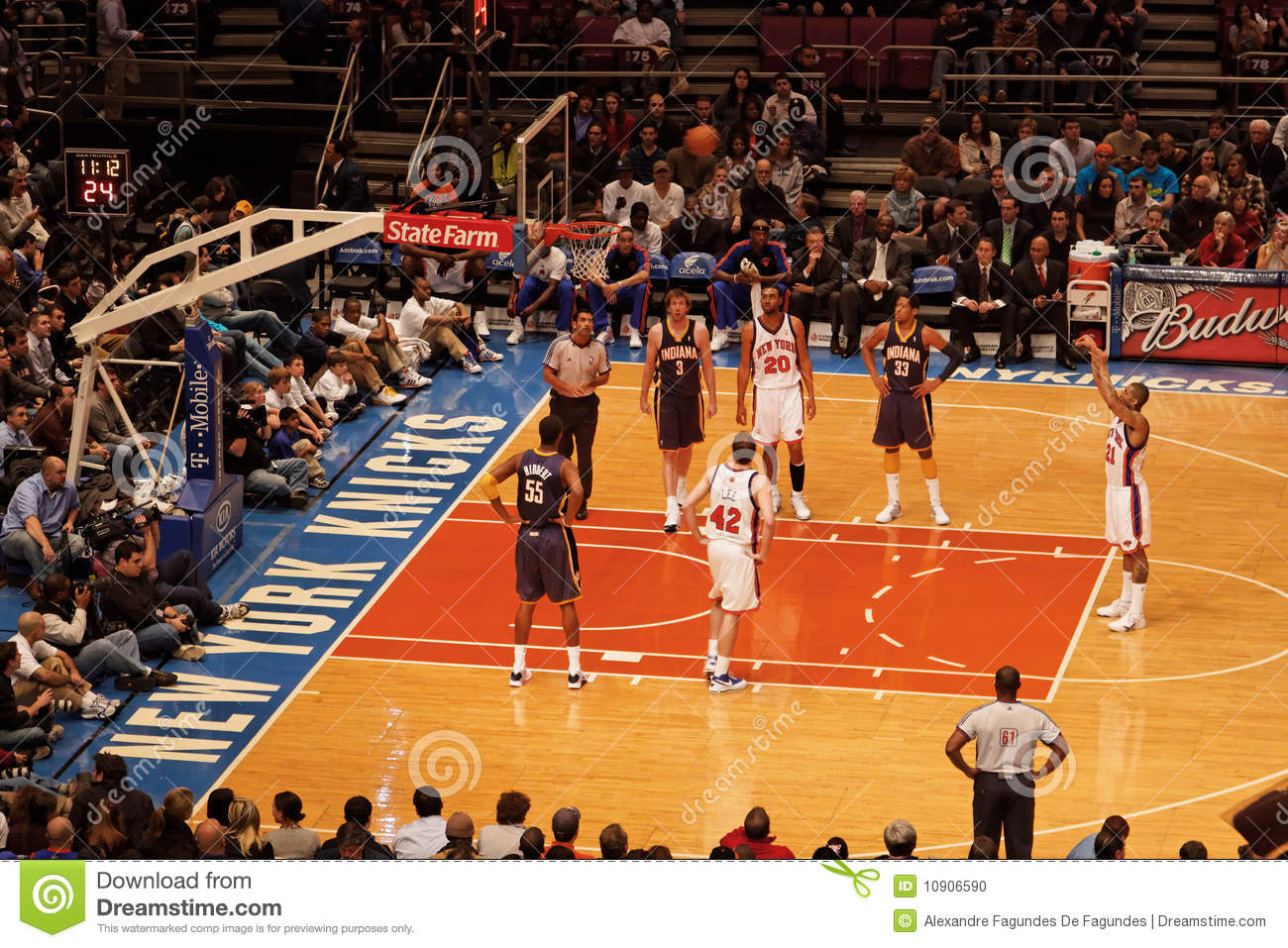 Knicks X Indiana Pacers Madison Square Garden Editorial Image Image 10906590