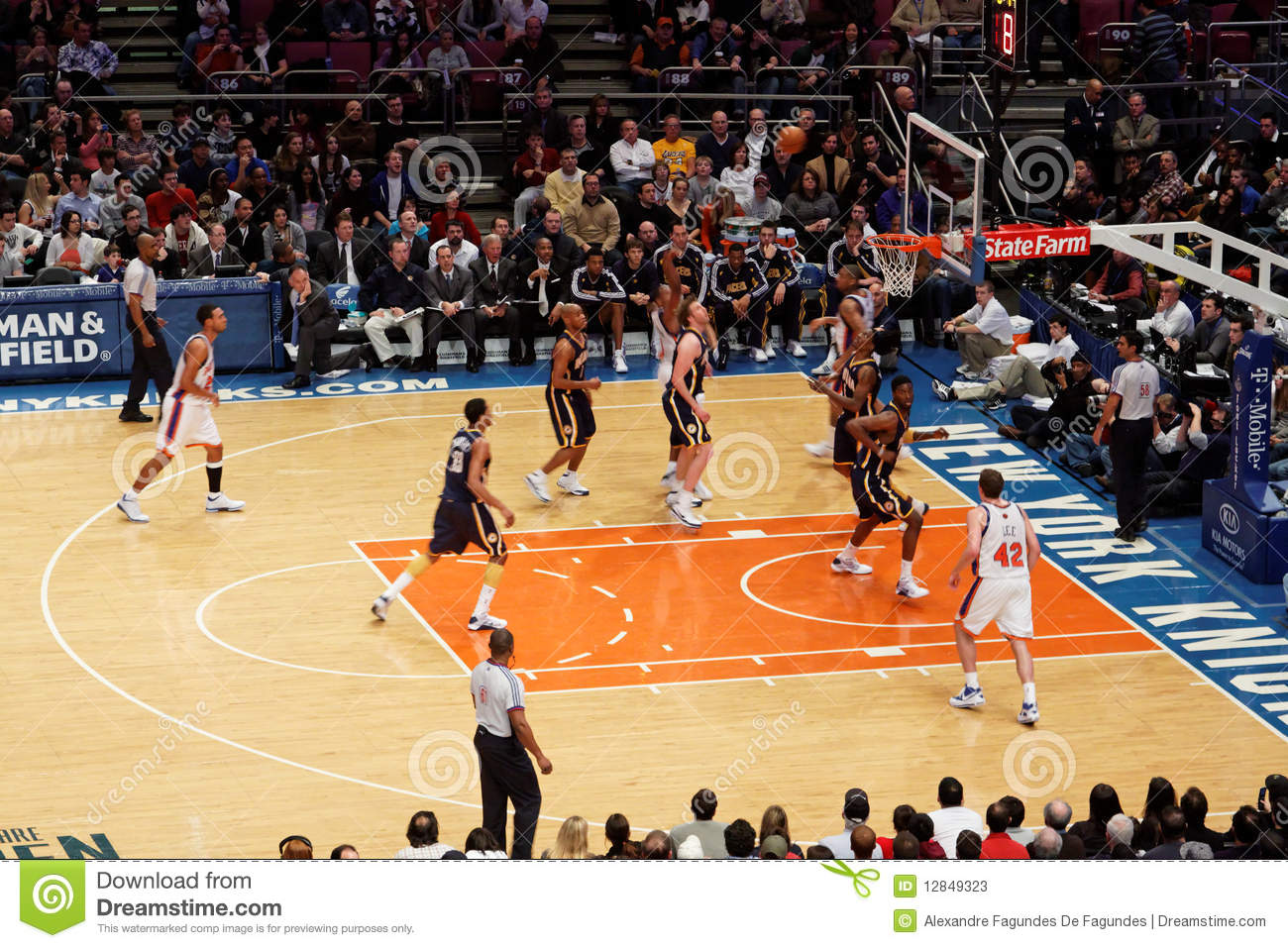 Knicks X Indiana Pacers Madison Square Garden Editorial Stock Photo Image 12849323