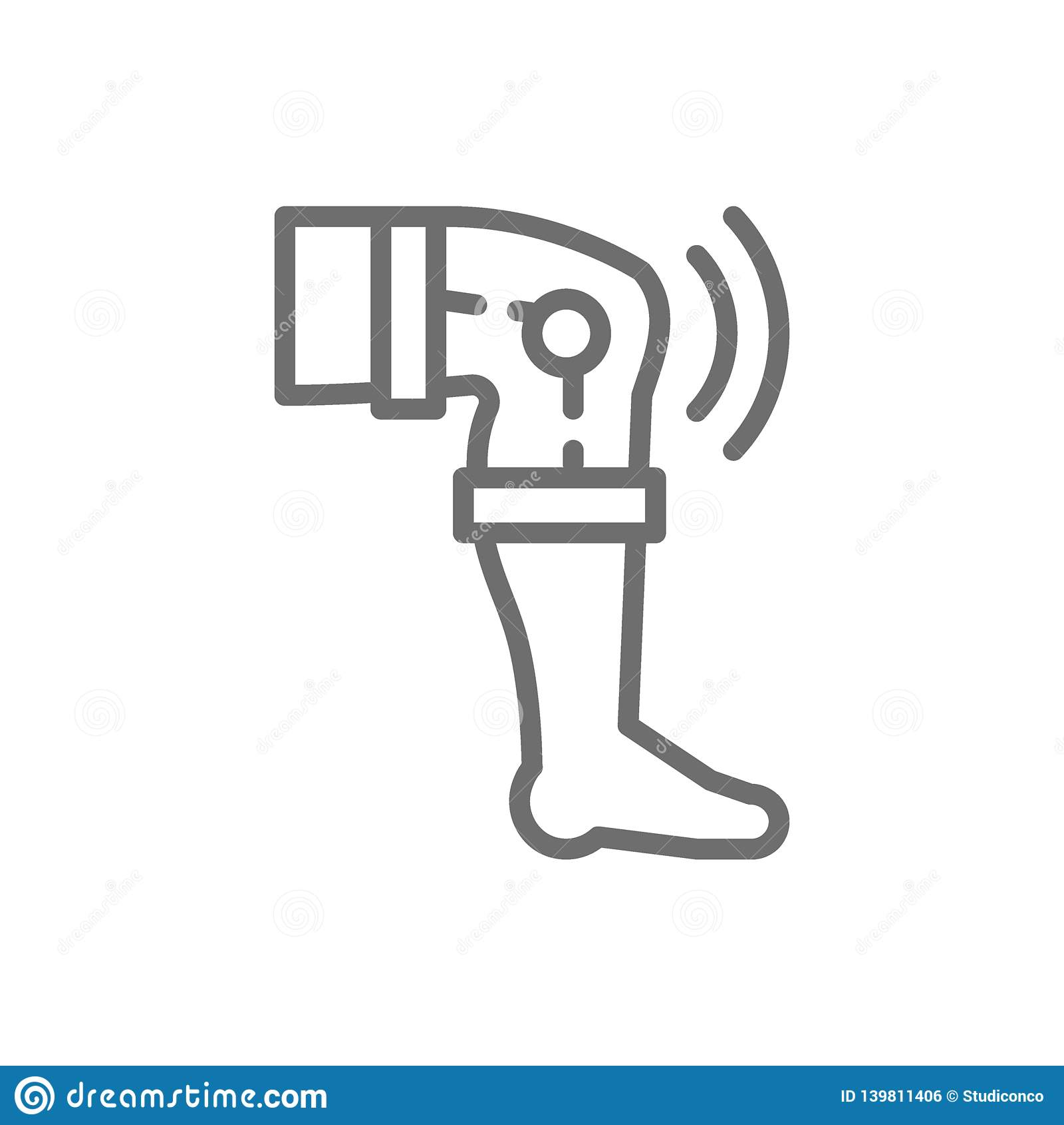 Knieersatz, Fließnaht Ikone der Prothese
